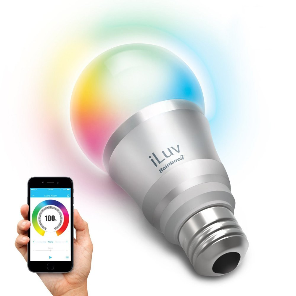 Iluv rainbow7ul smartphone controlled bluetooth led for Bluetooth controlled light bulb