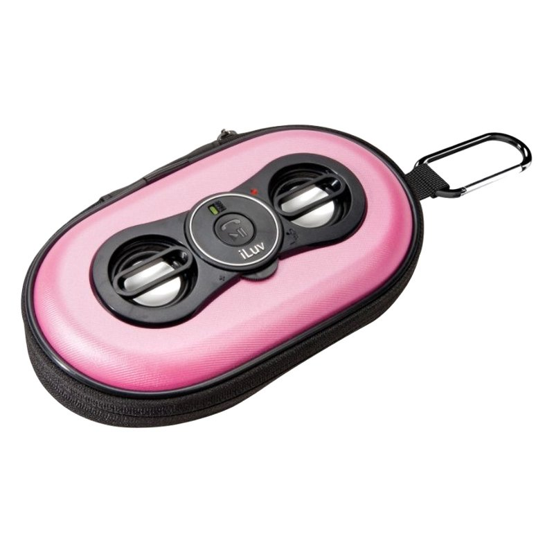 speakers pink. iluv® - pink portable stereo speaker for smartphones/audio devices speakers