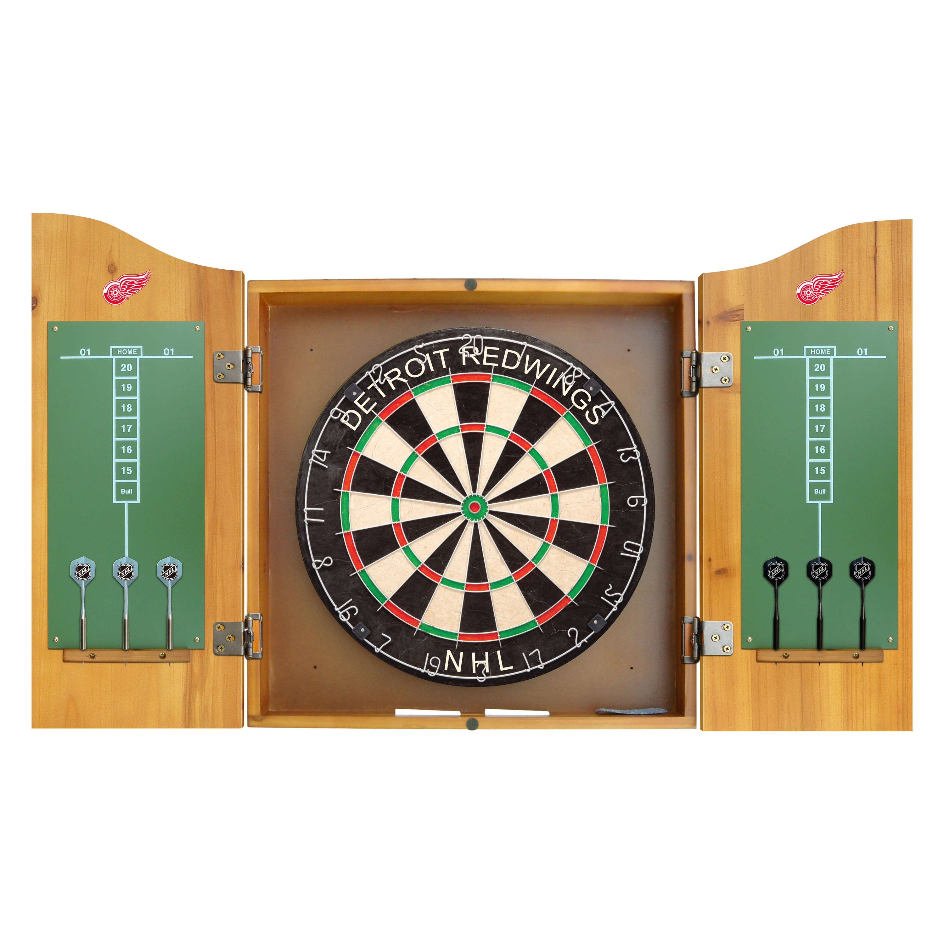 Delicieux Imperial International®   NHL Detroit Red Wings Dart Cabinet Set