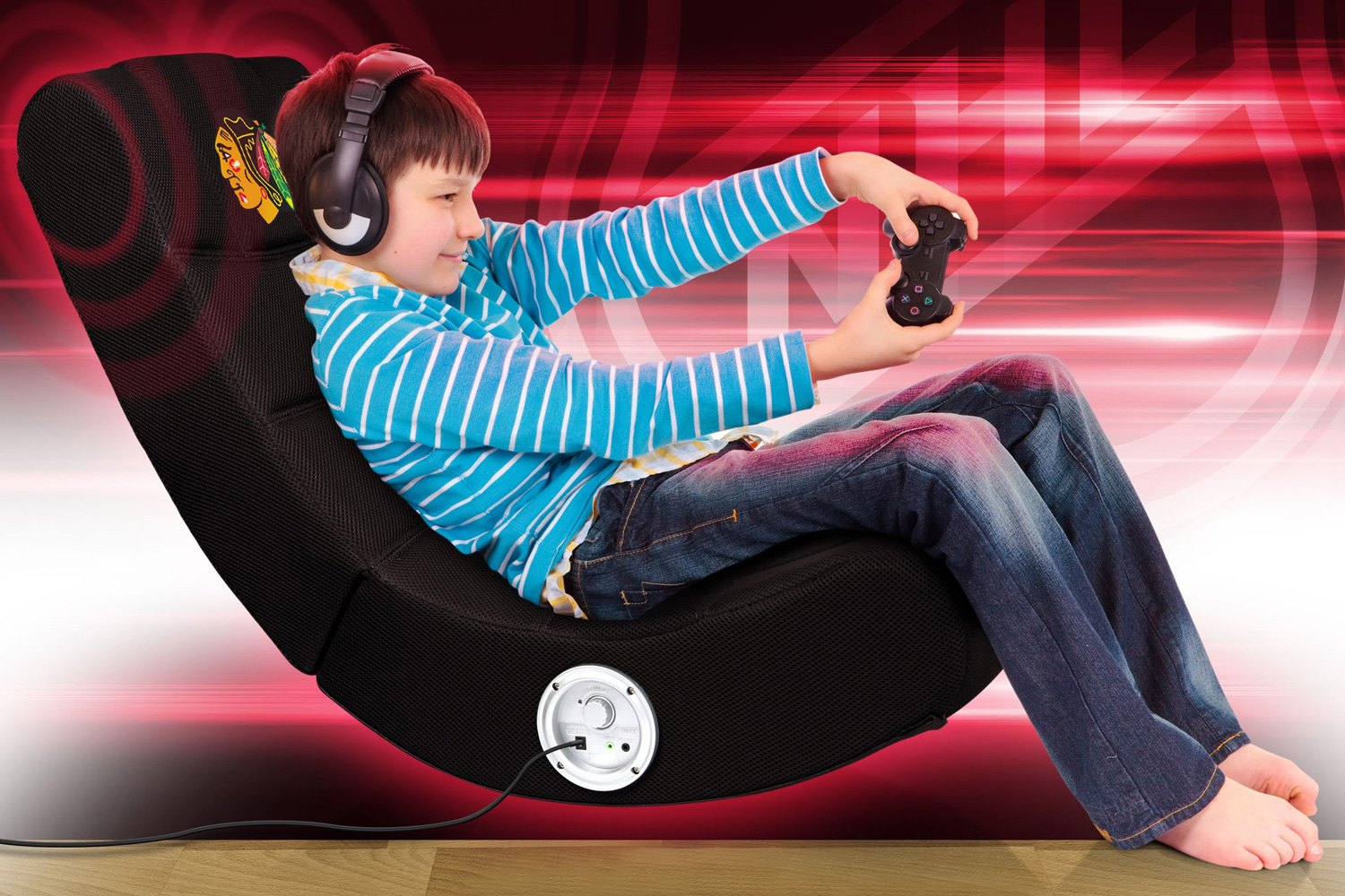 Tremendous Imperial International Nhl Bluetooth Video Chair With Chicago Blackhawks Logo Dailytribune Chair Design For Home Dailytribuneorg
