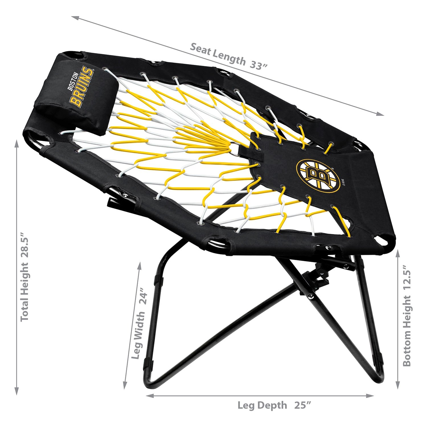 Admirable Imperial International Imp 478 4001 Nhl Premium Bungee Chair With Boston Bruins Logo Alphanode Cool Chair Designs And Ideas Alphanodeonline