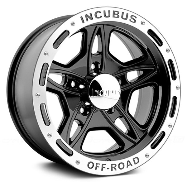 incubus off road wheels gloss black with machined flange rims 511790655 12gblm n. Black Bedroom Furniture Sets. Home Design Ideas