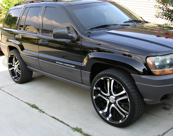 Black Jeep Cherokee With Black Rims Jeep Grand Cherokee With Rims