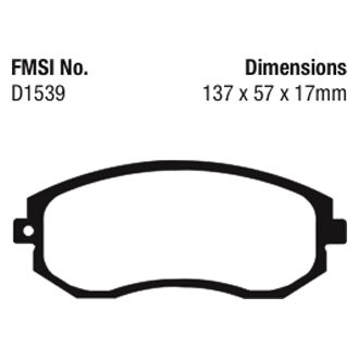 Details about For Subaru Forester 2011-2018 EBC UD1539 Ultimax Replacement  Front Brake Pads
