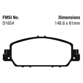 For Honda Accord 2013-2019 EBC UD1654 Ultimax  Replacement Front Brake Pads