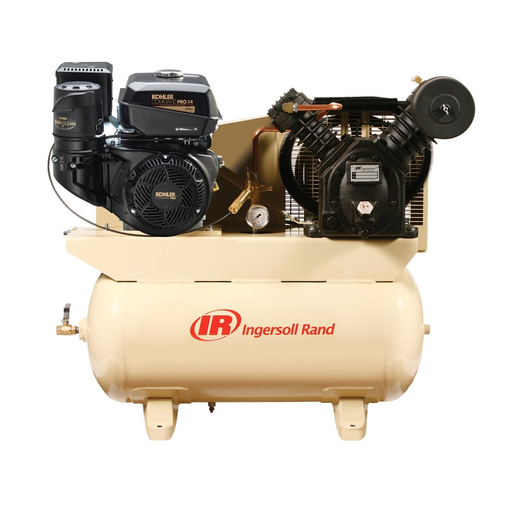 Ingersoll rand 14 hp kohler engine gas drive air for Motor driven air compressor