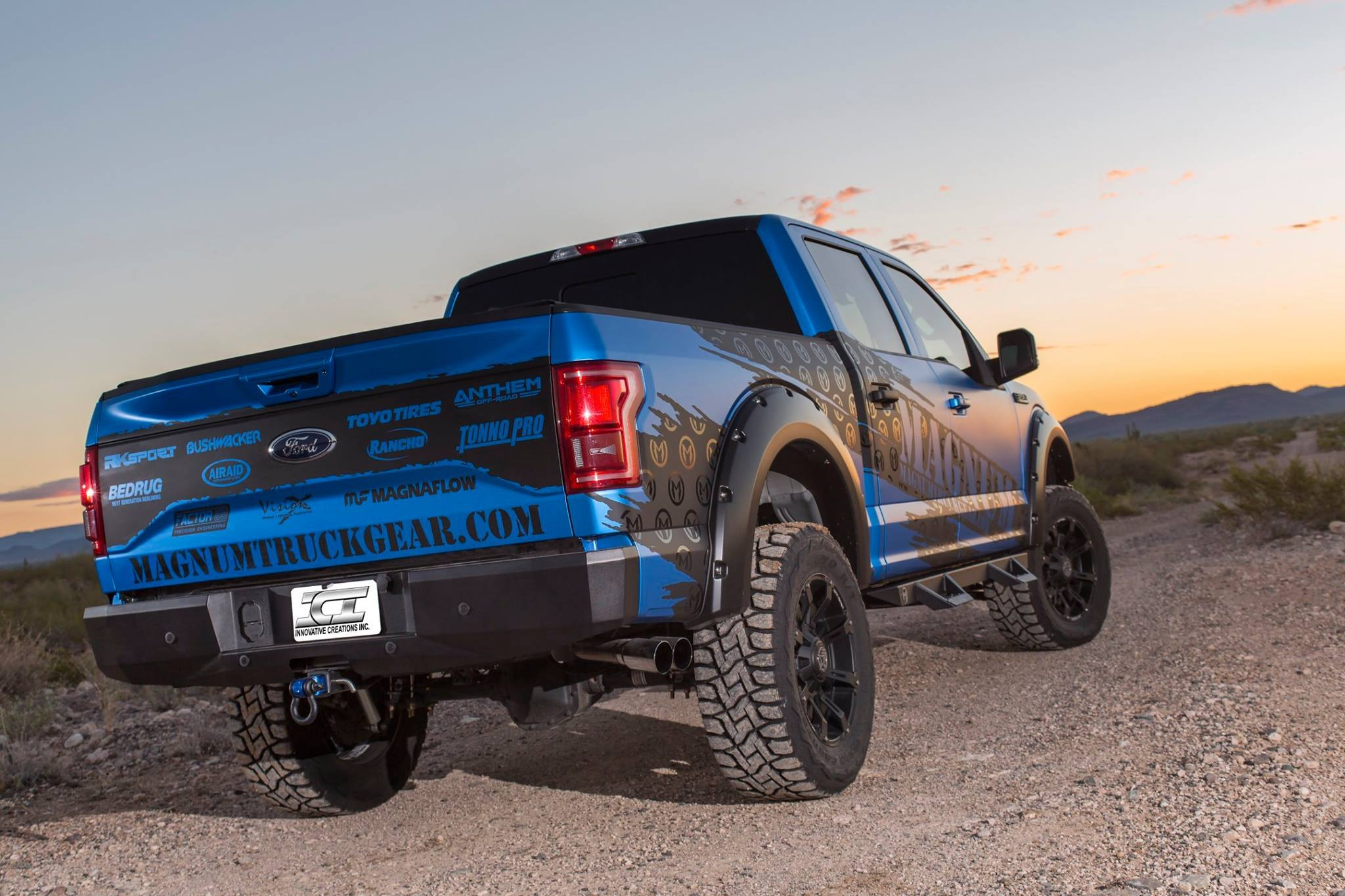 Ford F150 with 6» lift kit and 35» tires - Photo by ICI Innovative Creations Inc.