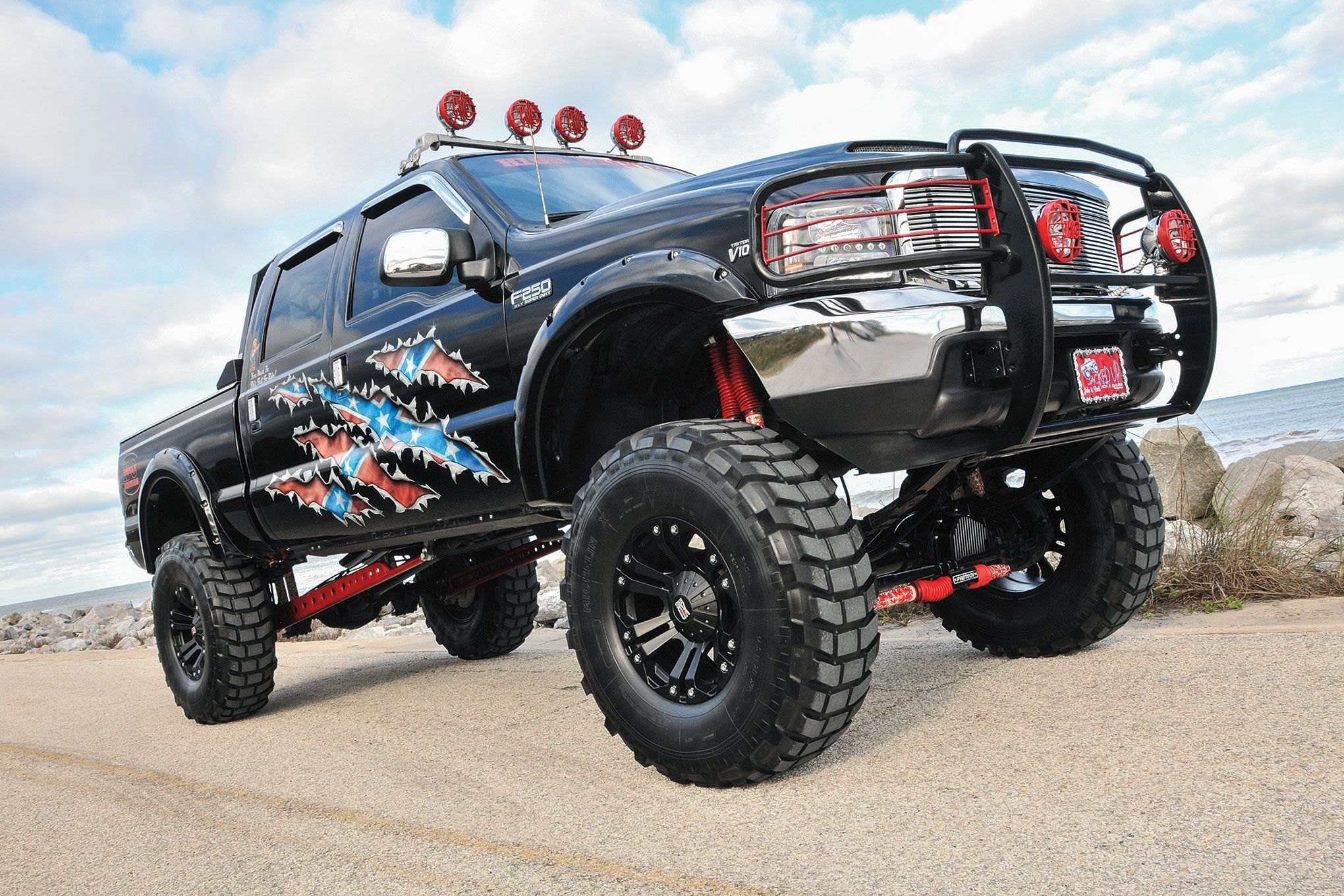 Redneck Pride Ford F 250 Super Duty Gallery 2004 F250 Lifted On 20 Xd Custom Wheels Photo By Joe Greeves