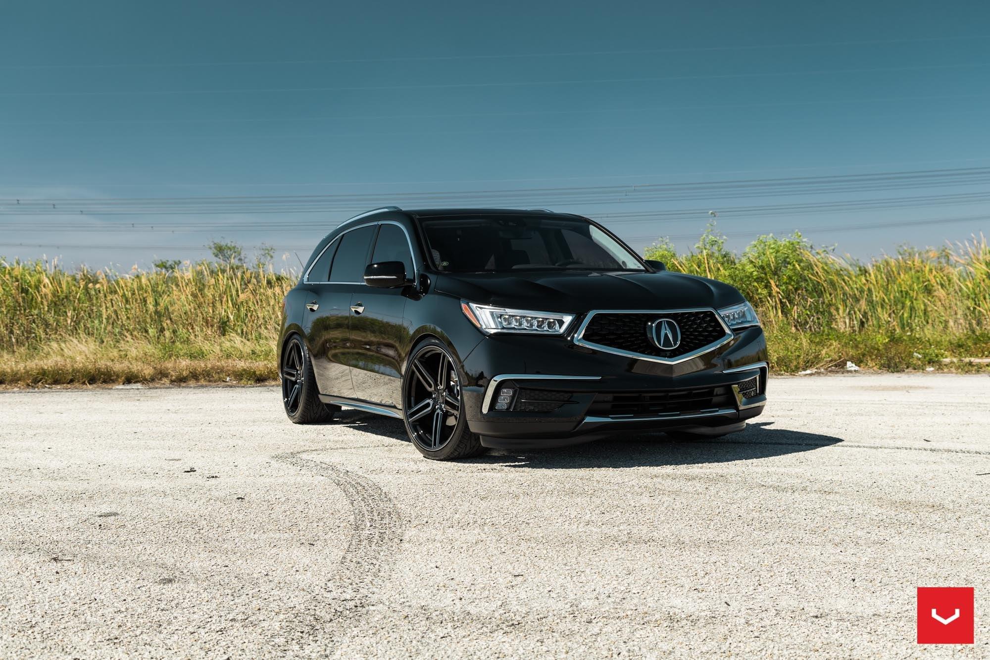 Black On Black Mean Acura Mdx Enhanced With Crystal Clear Headlights Carid Com Gallery