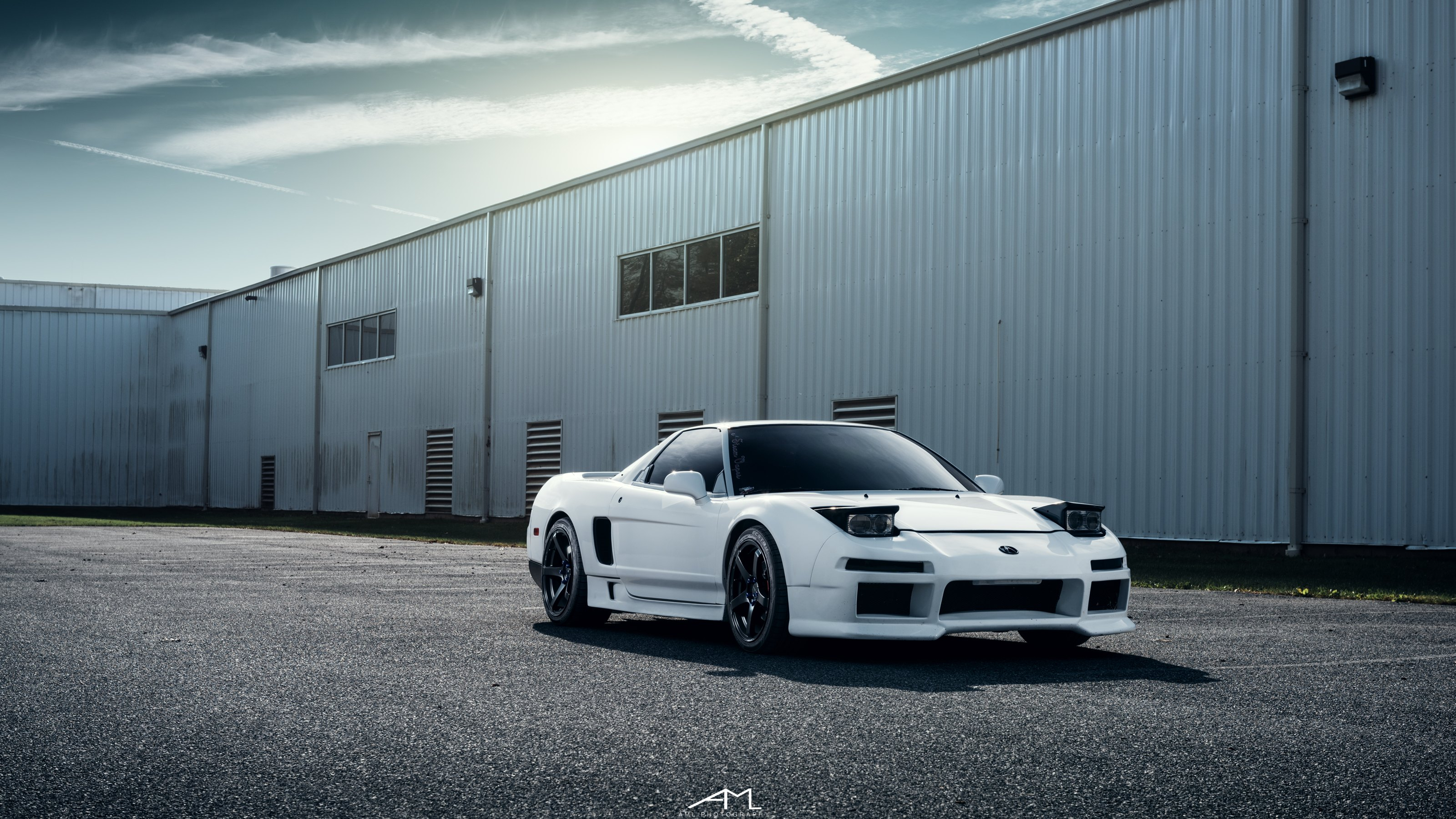 White Acura NSX Gets A Mysterious Look With Aftermarket Parts On - Acura nsx parts