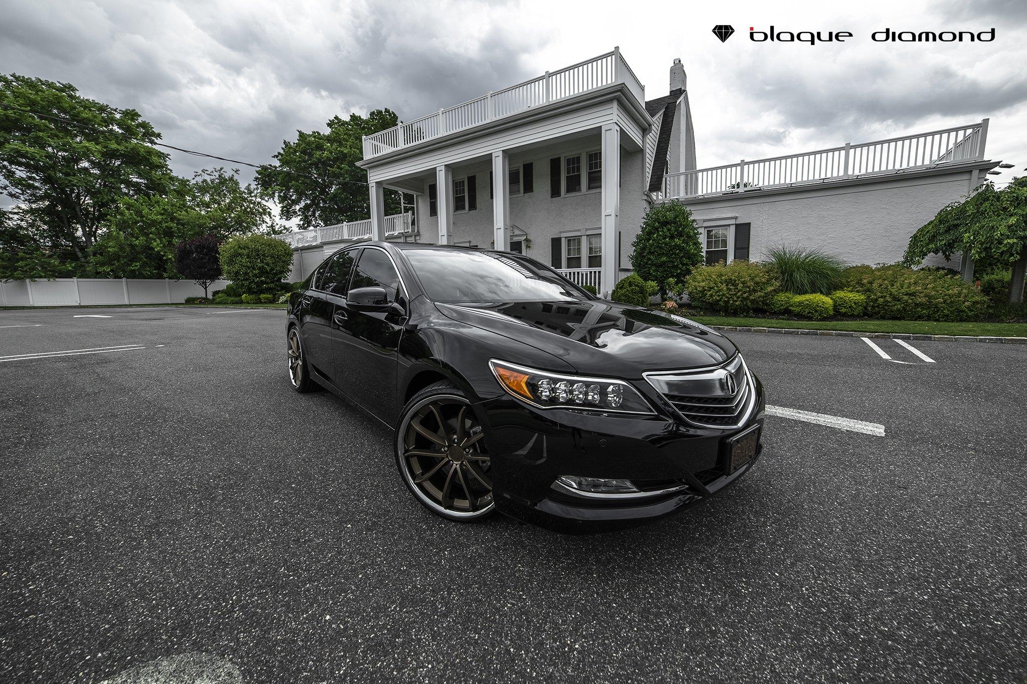 Blaque Diamond Rims Beautifying Black Acura RLX CARiDcom Gallery - Black acura rims