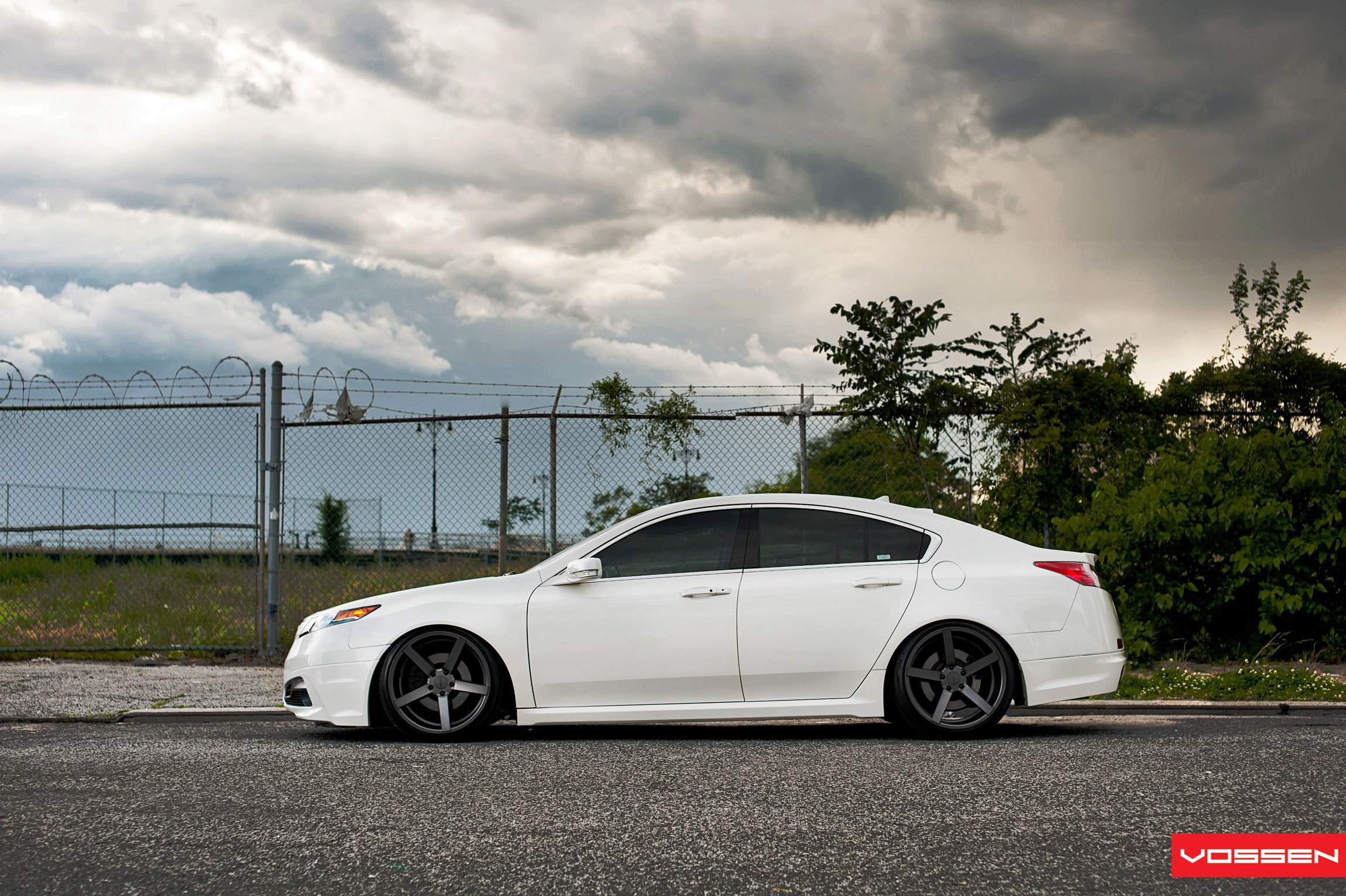 Lowered And Awesome Acura TL Rocking A Set Of Custom Rims CARiD - Acura tl black rims