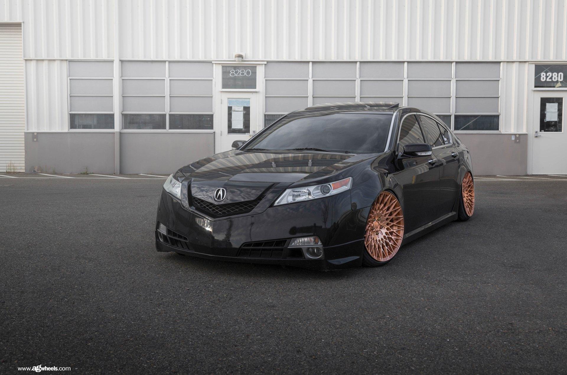 Slammed Acura TL On Copper Rims By Avant Garde CARiDcom Gallery - Acura tl rim