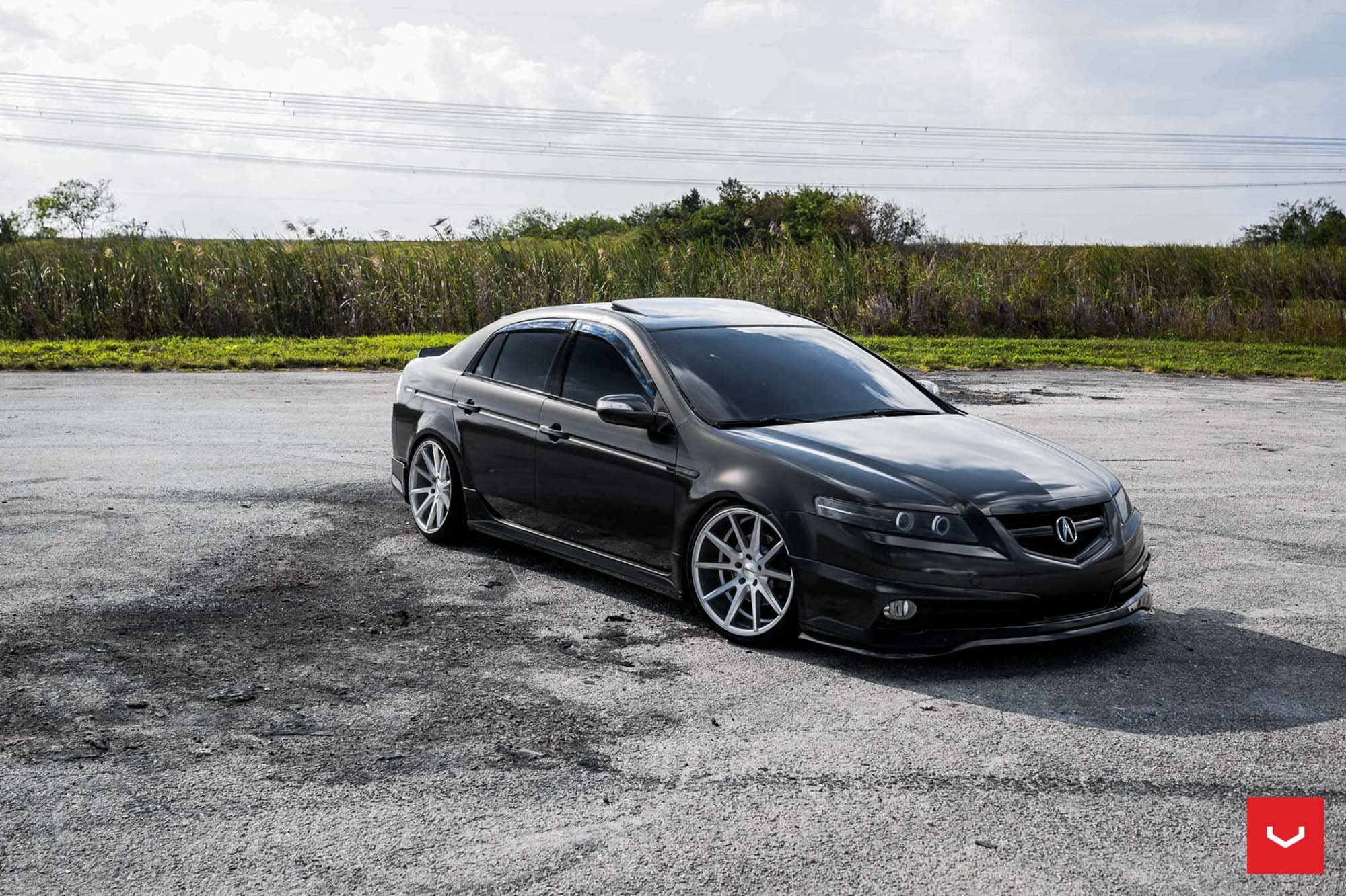 Stanced Acura TL With A Front Bumper Lip By Vossen Wheels CARiD - 2004 acura tl front lip