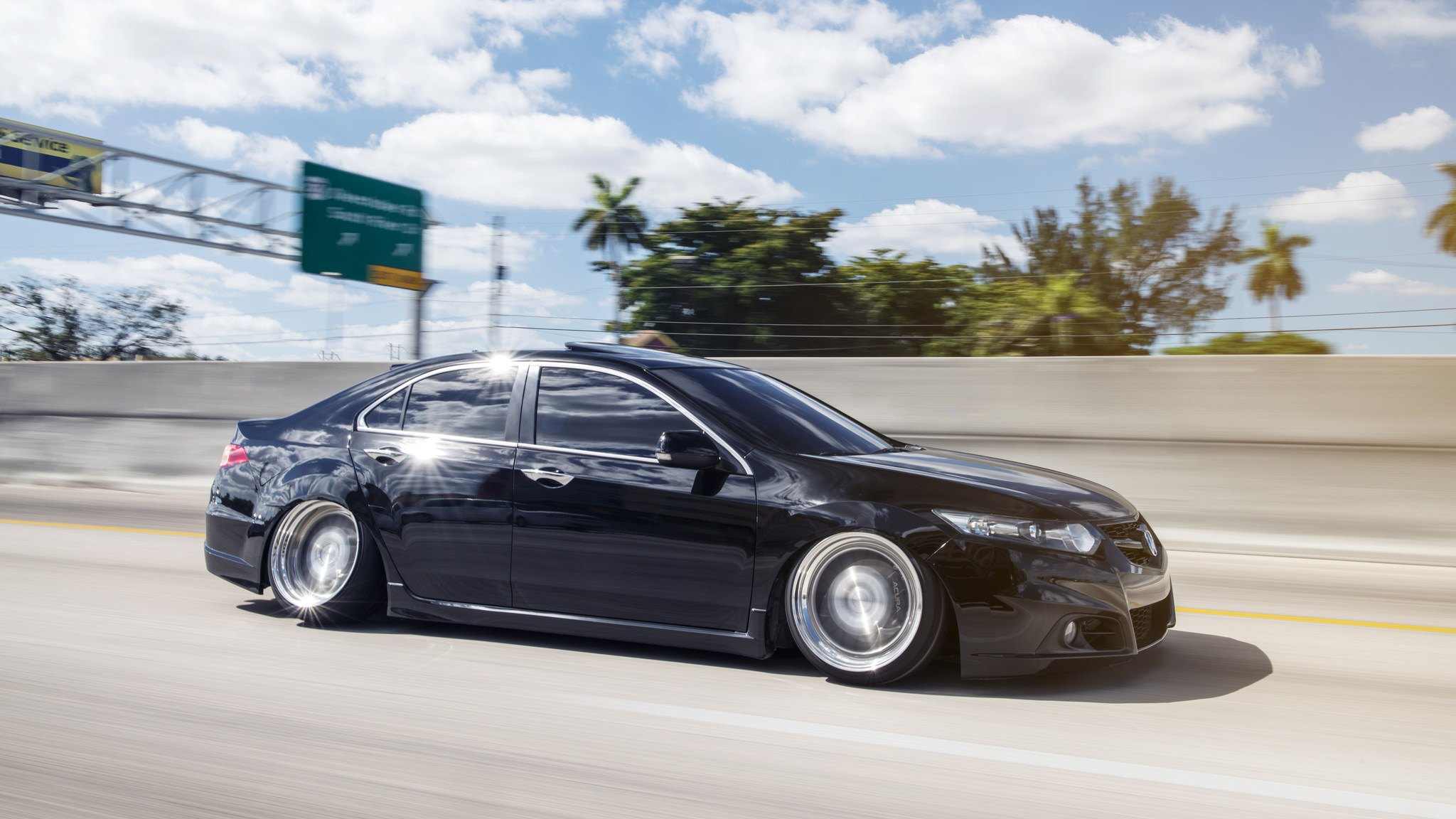 Slammed Tsx With Radical Camber And Polished Rotiform Rims Carid Com Gallery