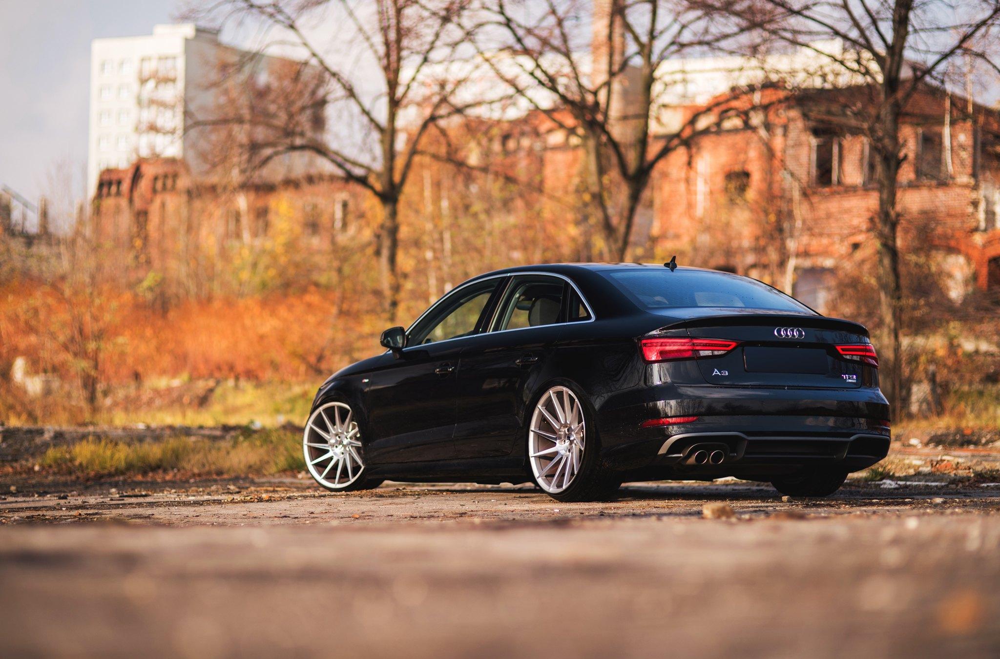 Audi A3 8V White TSW Bathurst | Wheel Front  |Audi A3 Sedan Black Rims