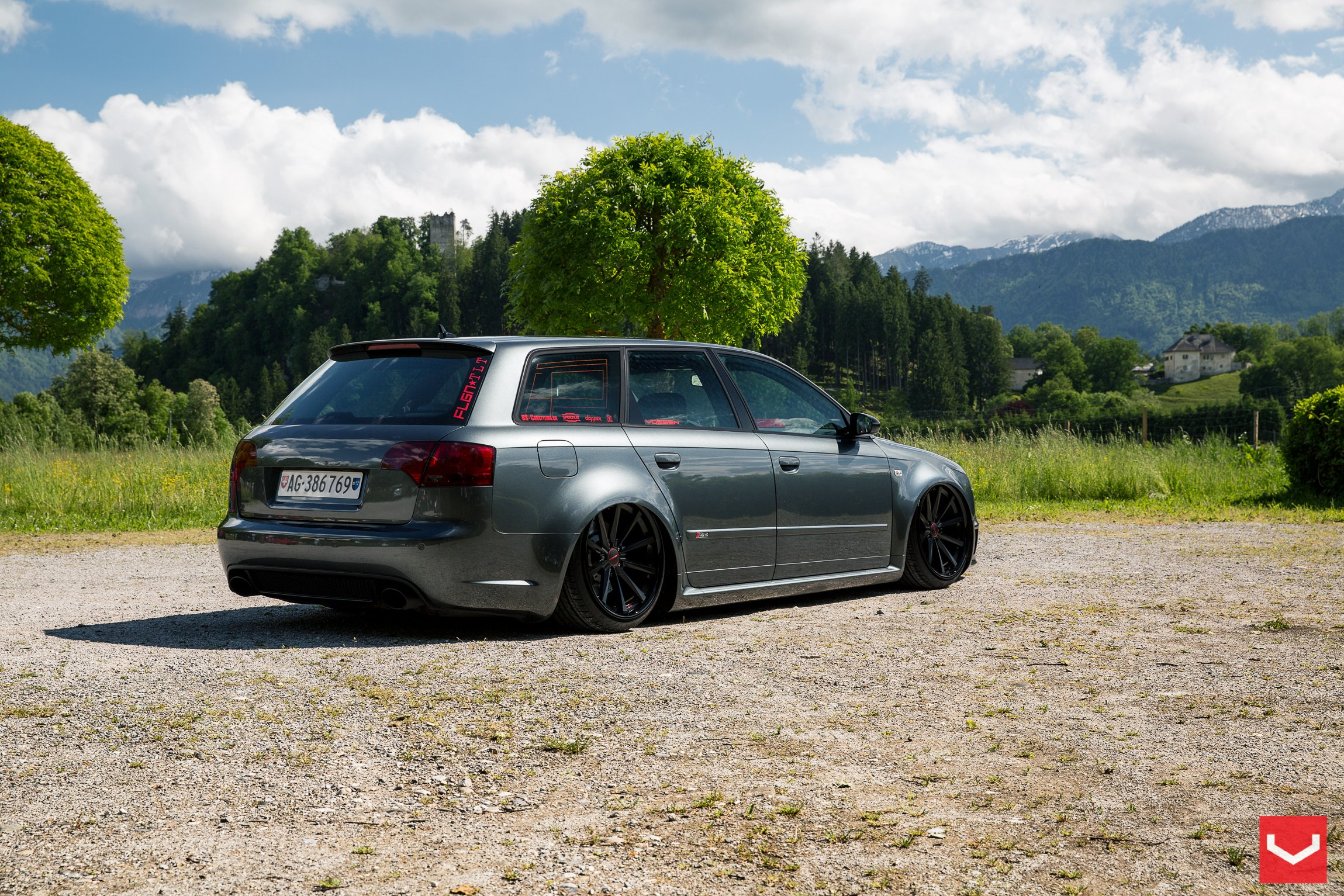 blacked out audi a4. audi a4 with custom side skirts photo by vossen blacked out