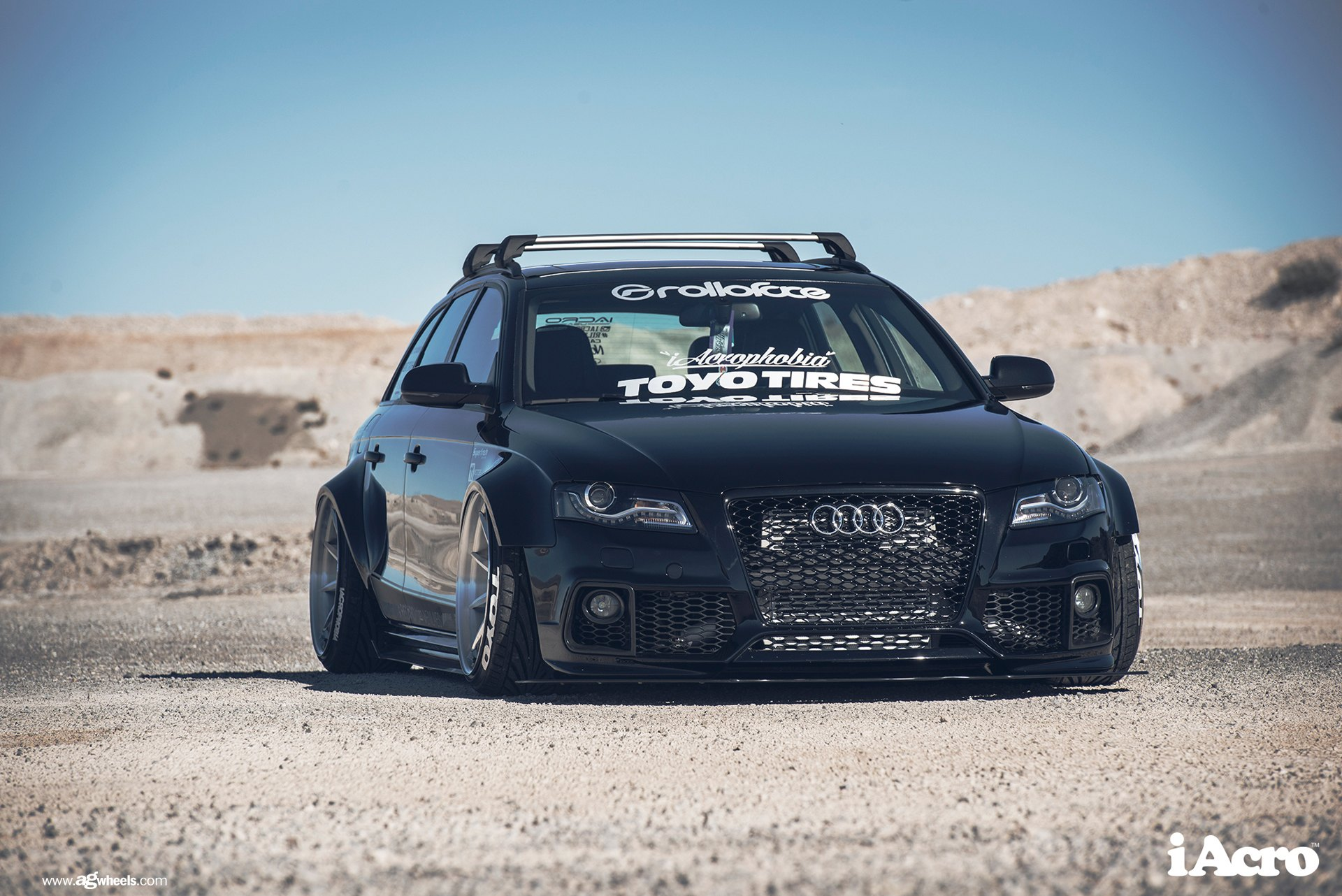 stanced audi a4 b8 with wide fenders and avant garde rims. Black Bedroom Furniture Sets. Home Design Ideas
