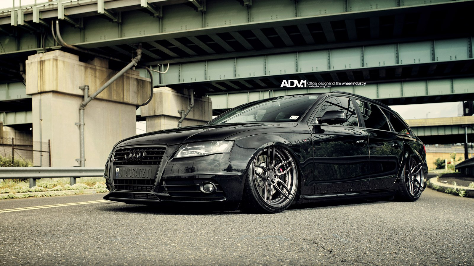 Black Lowered Audi A4 With Dark Smoke Led Headlights Photo By Adv 1