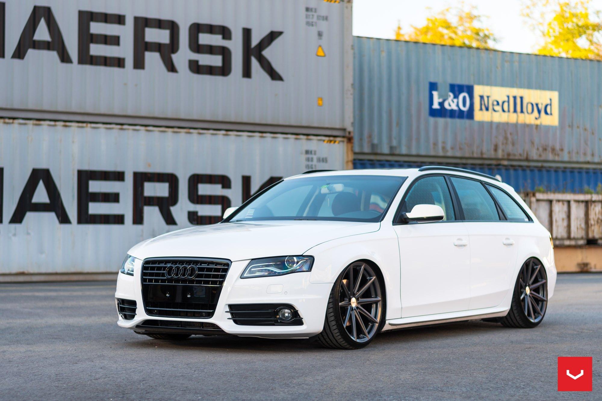 White On Black Customized Audi A4  U2014 Carid Com Gallery