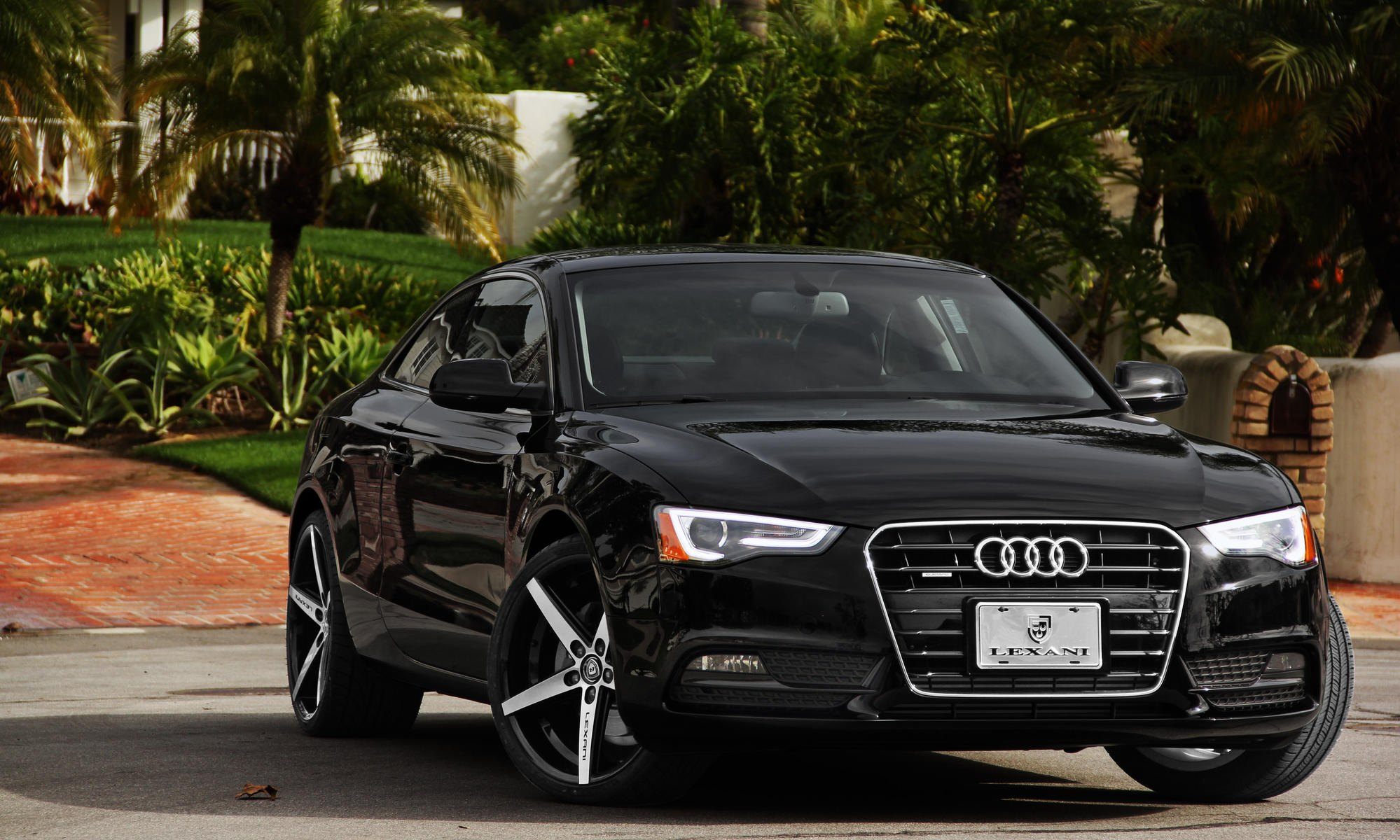 Drop Of Luxury Black Audi A Enhanced By Lexani CARiDcom Gallery - Black audi a5