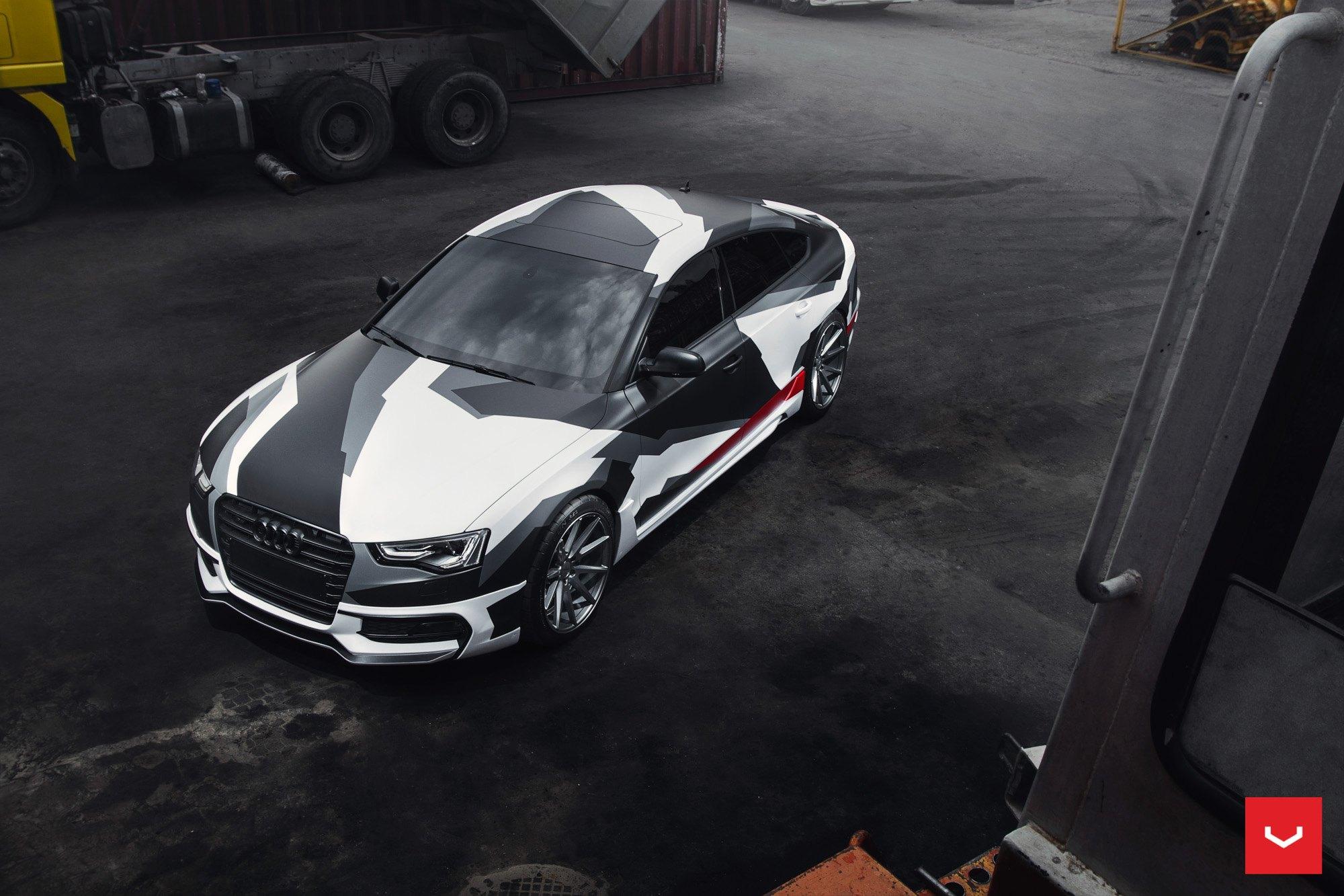 White Camo Wrapped Audi A5 Sportback By Vossen Carid Com