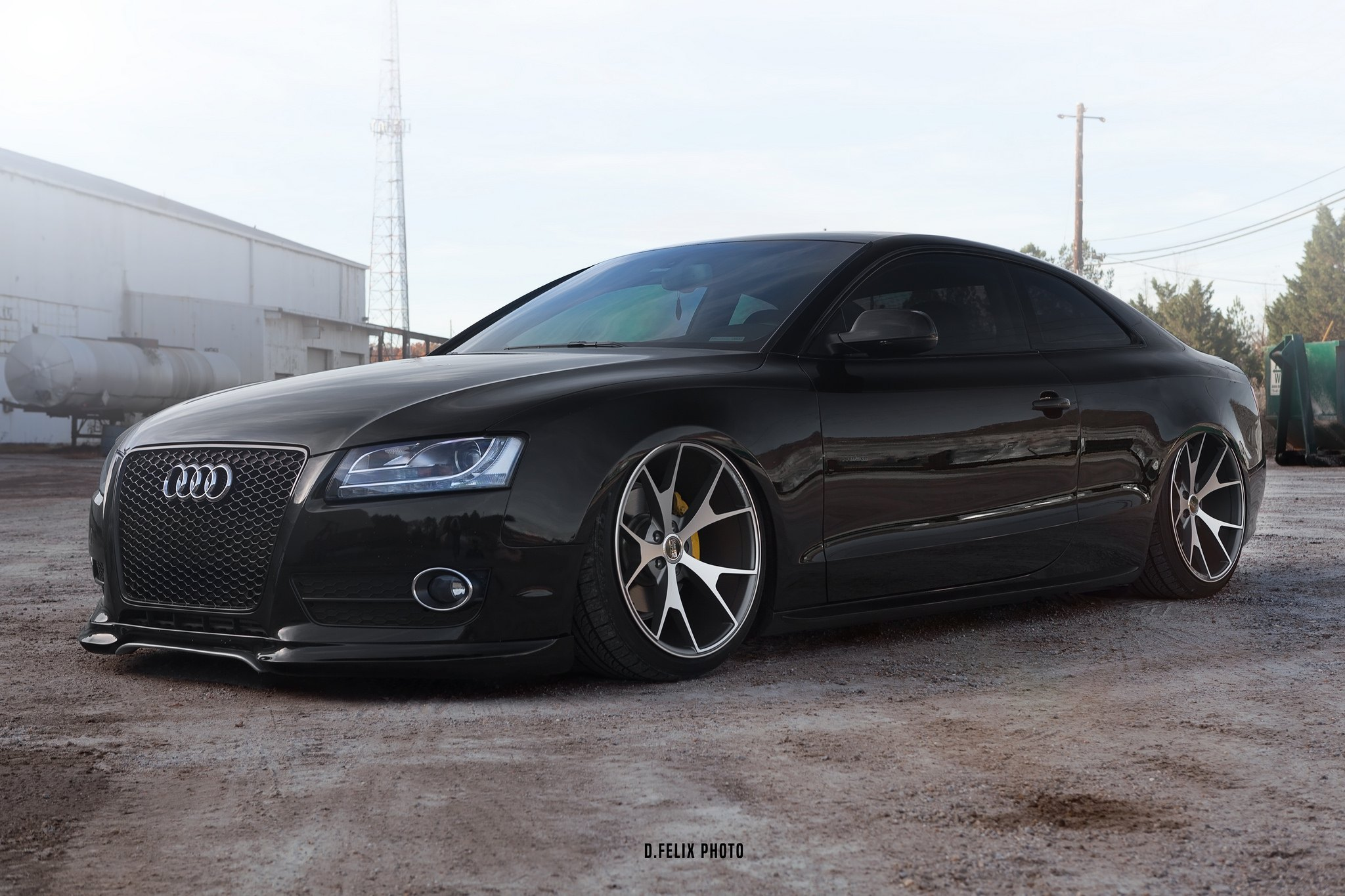 Updated Face of Black Audi A5 with Custom Mesh Grille ...  Updated Face of...