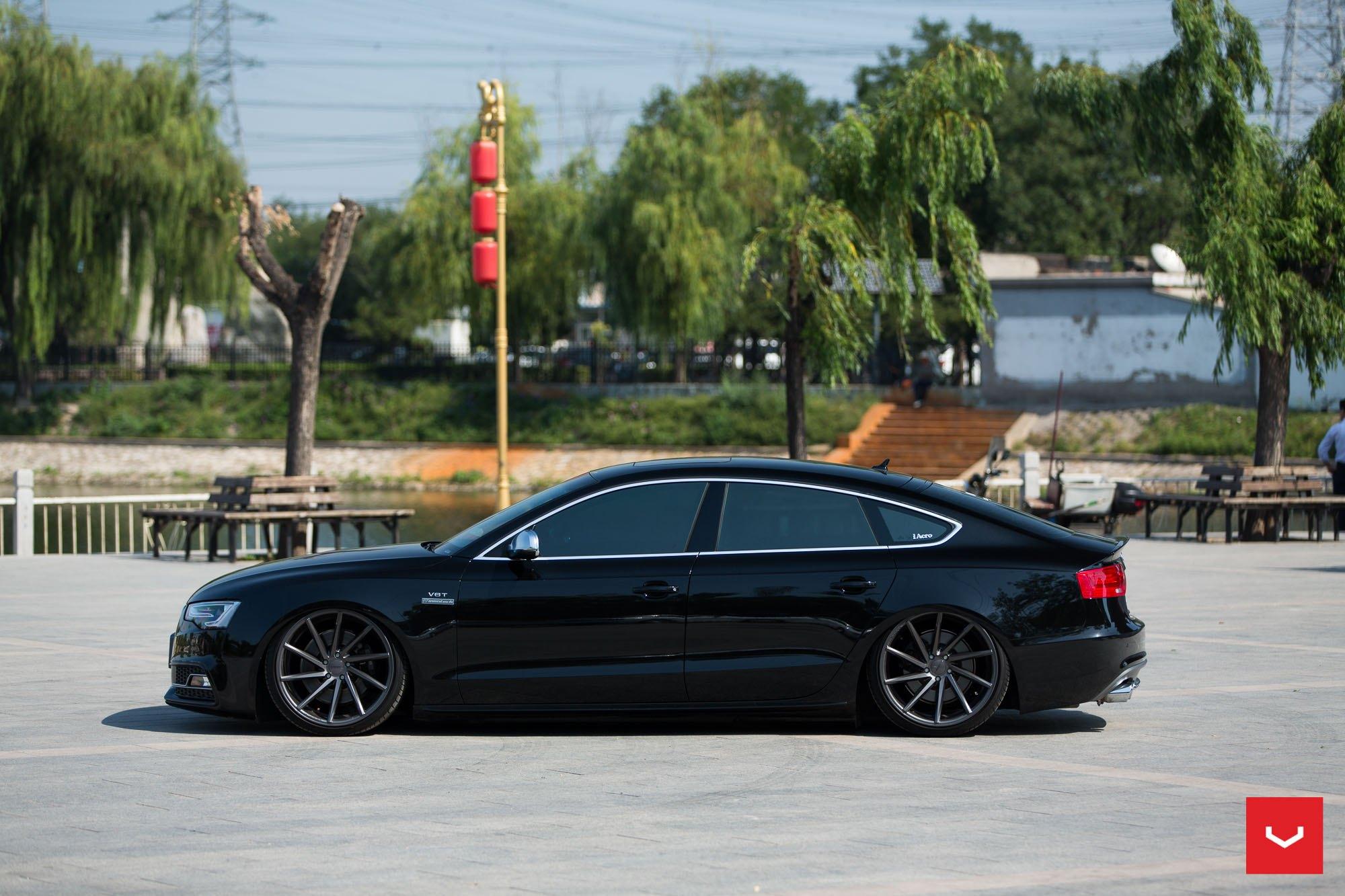 Oriental Pearl Slammed Audi A5 Sportback From China
