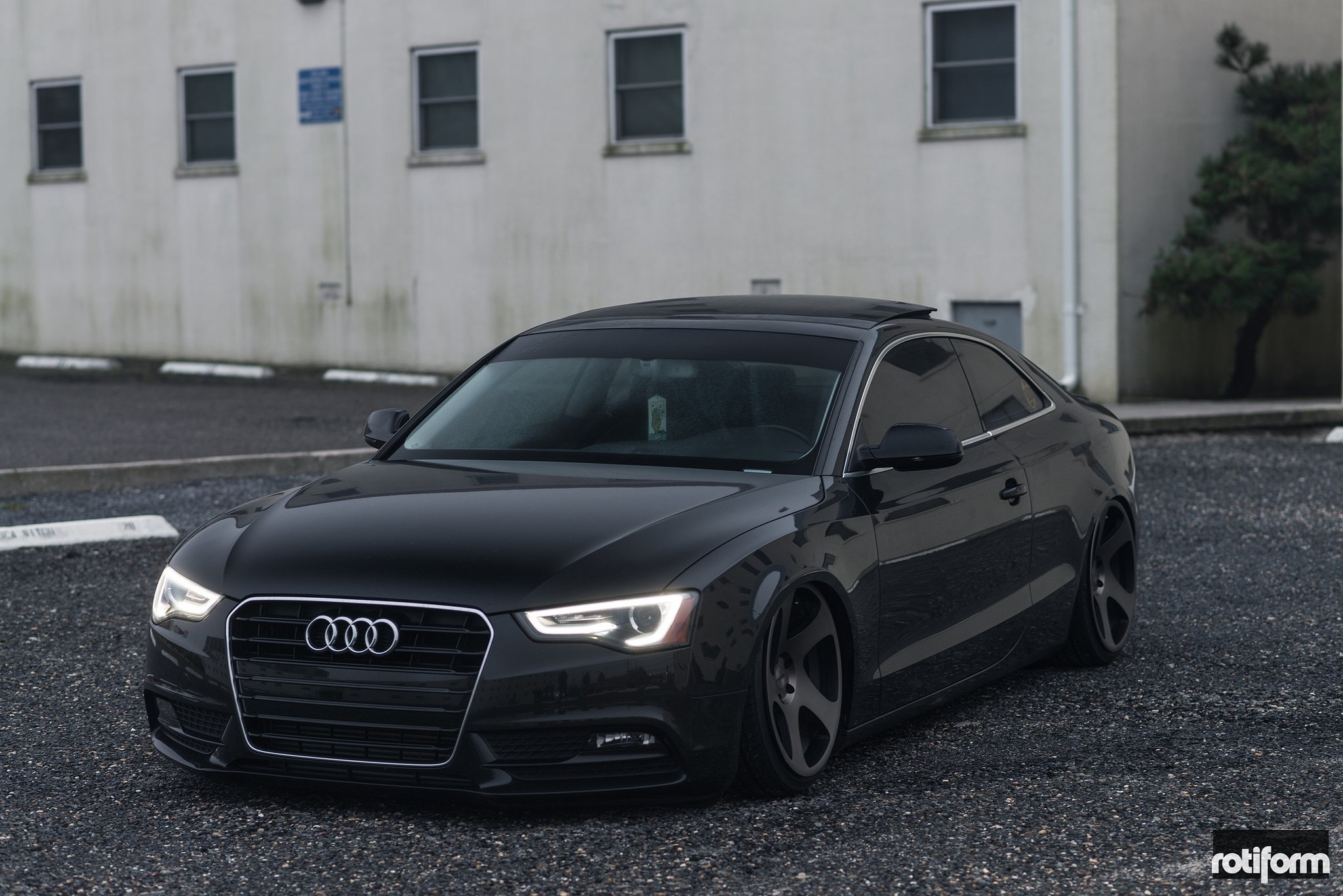 TMB Deep Concave Wheels by Rotiform on Stanced Audi A5