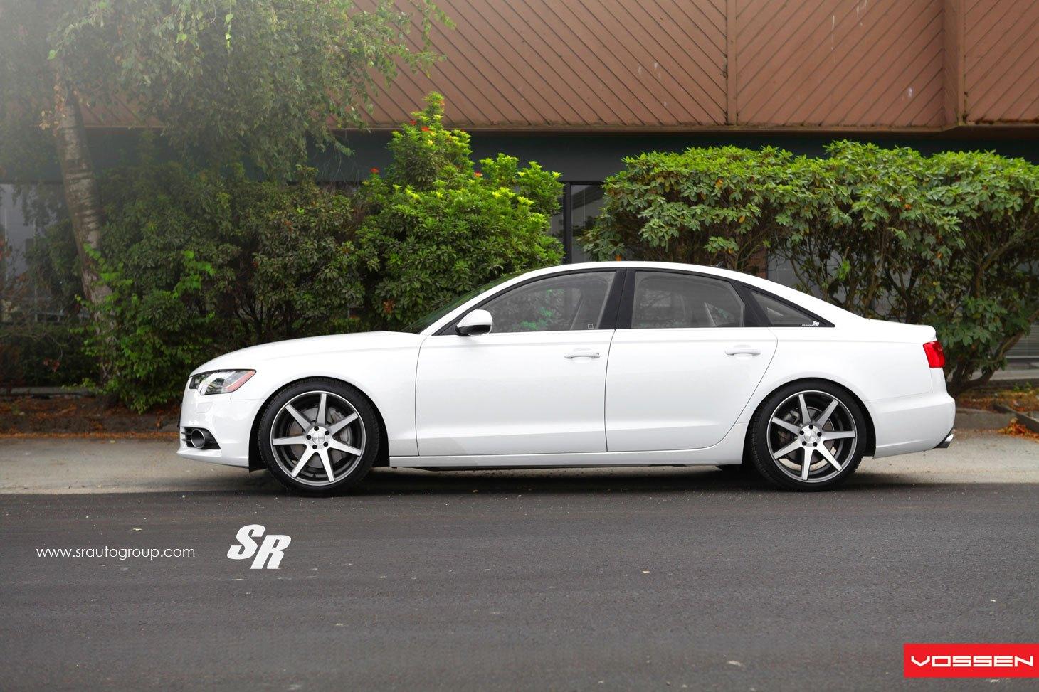 Chrome CV Vossen Rims On White Audi A6   Photo By Vossen