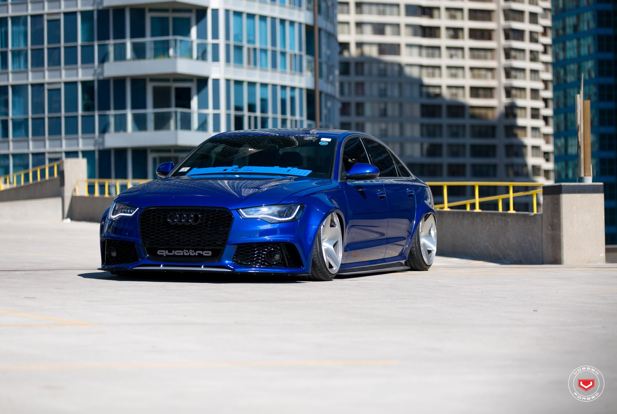 Blue Audi A6 Enhanced By Aftermarket Accessories Carid Com Gallery