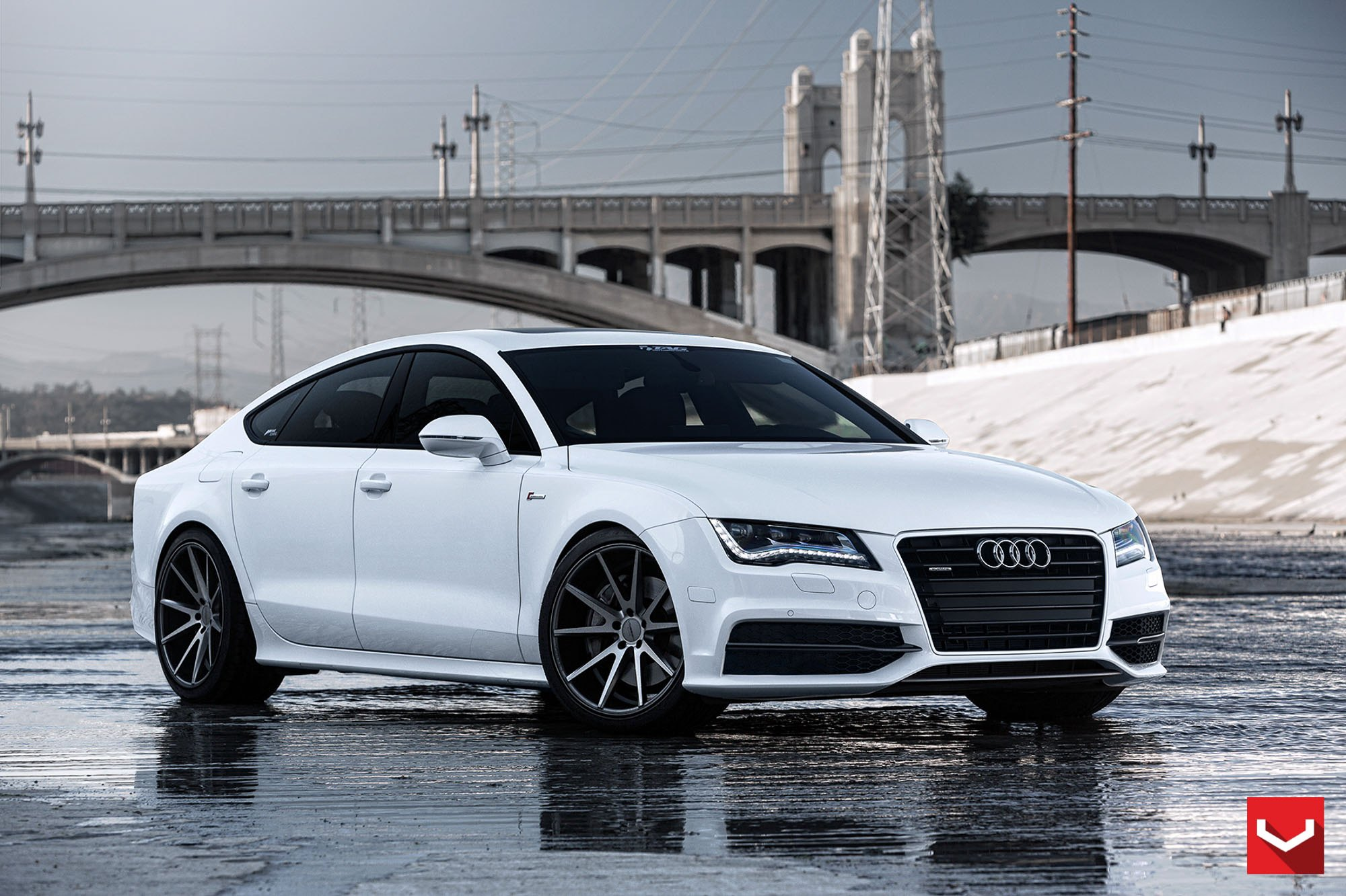 White Audi A7 Slightly Customized with Parts — CARiD.com Gallery