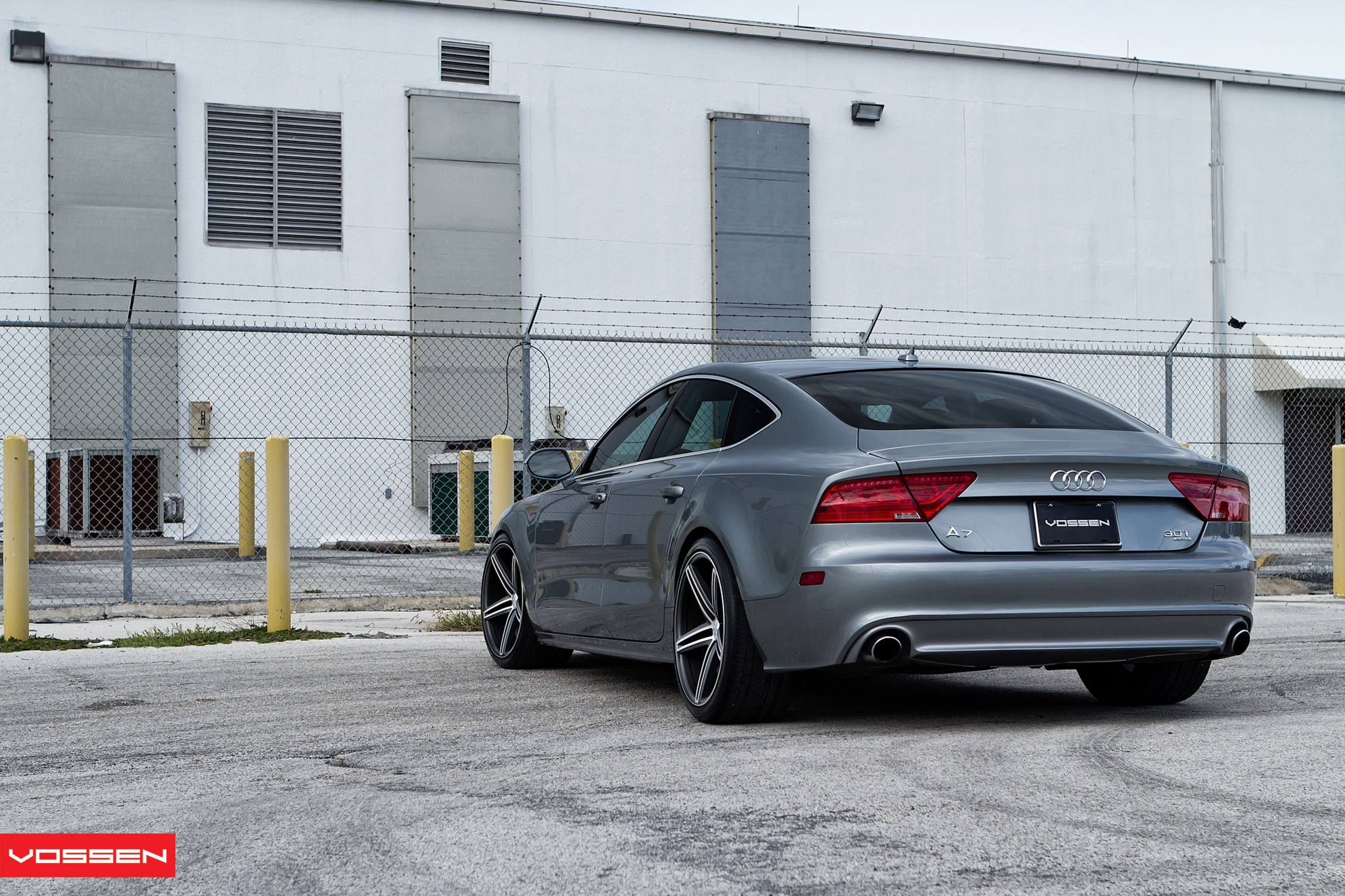 Aftermarket Rear Bumper Cover on Audi A7 - Photo by Vossen