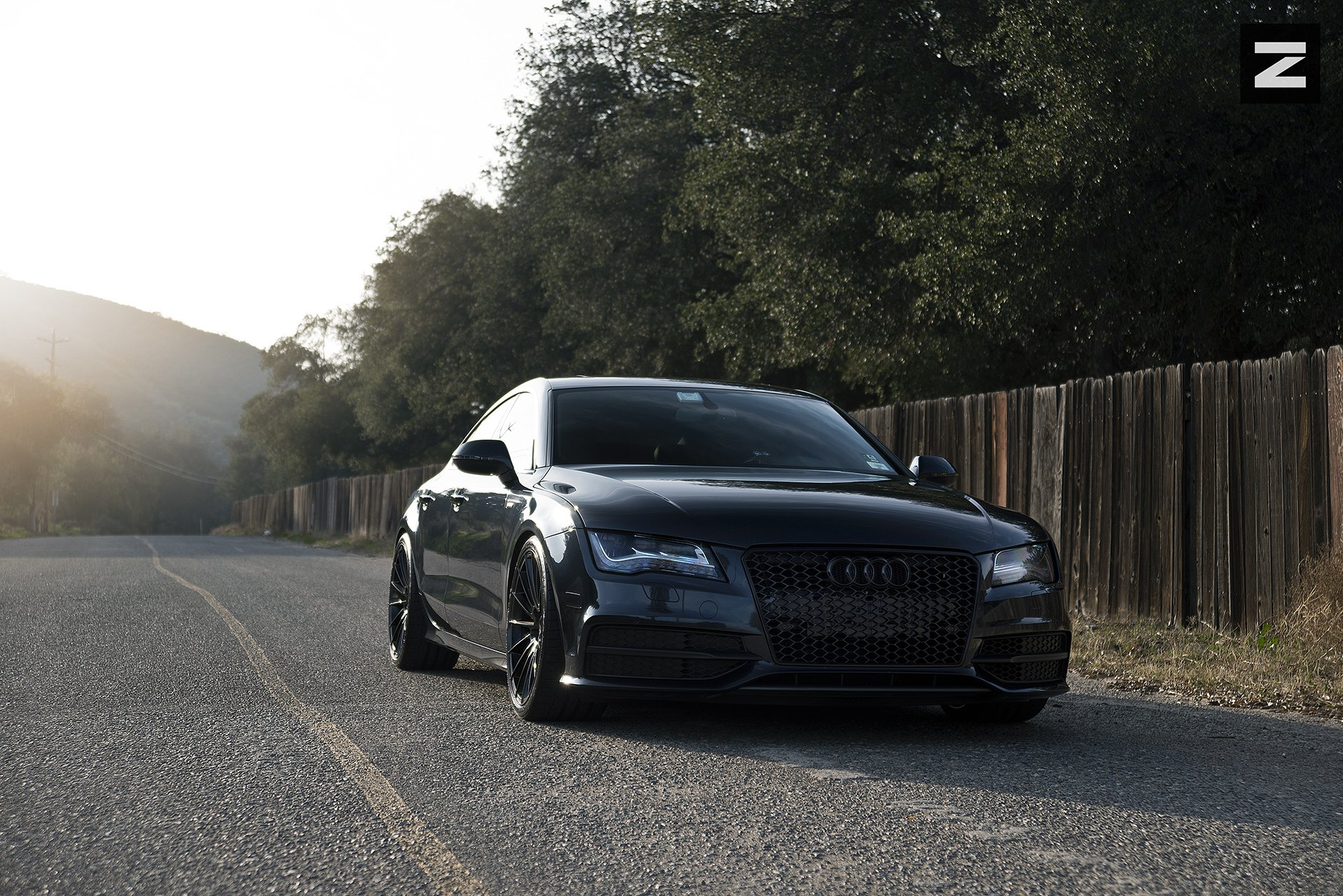 Bad Boy Detected Murdered Out Audi A7 Caridcom Gallery