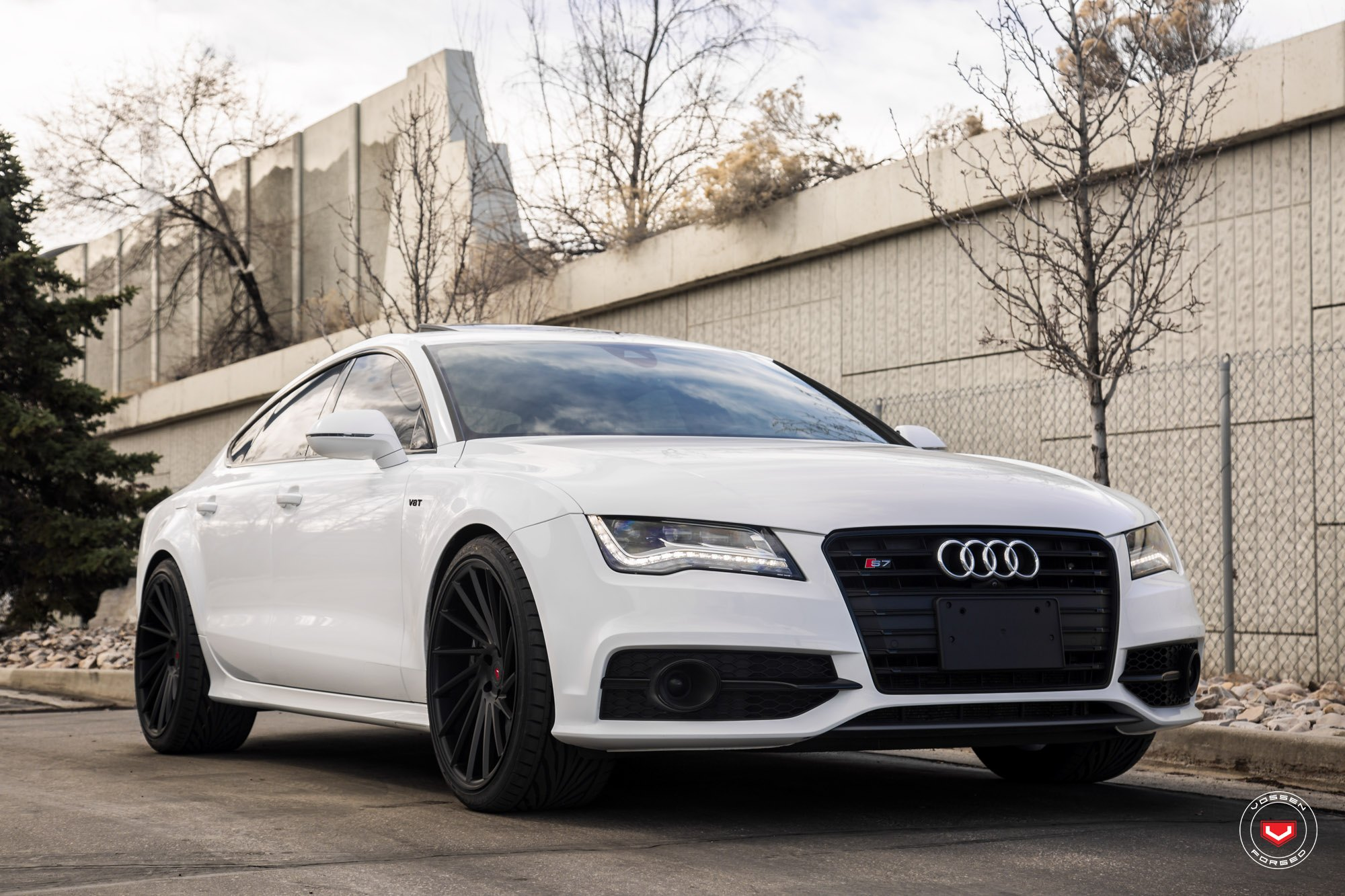 Audi S7 Adorned With Custom Grille Led Tail Lights And Vossen Rims