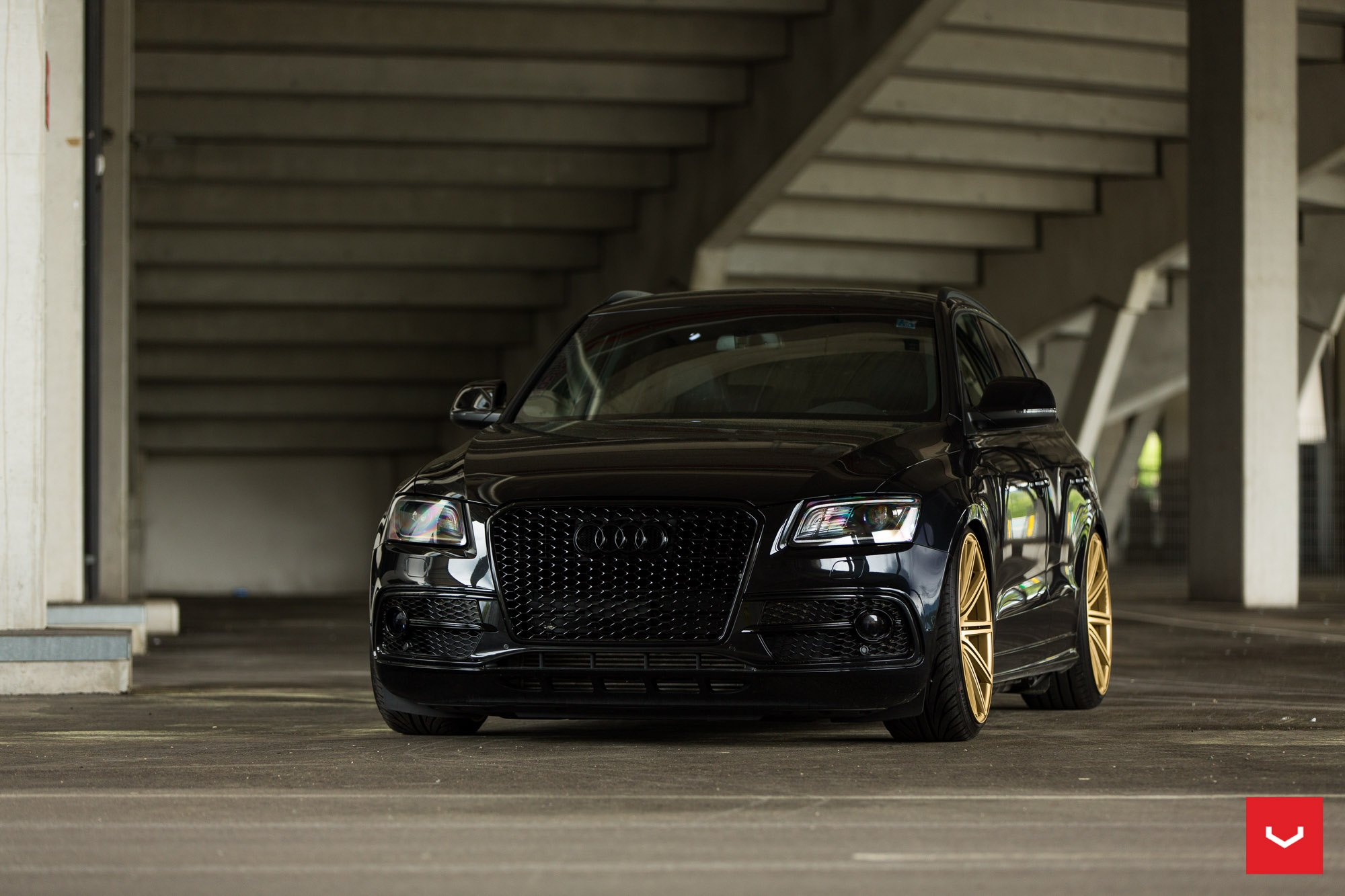 Audi Q5 Looking Menacing Being Blacked Out and Sitting on