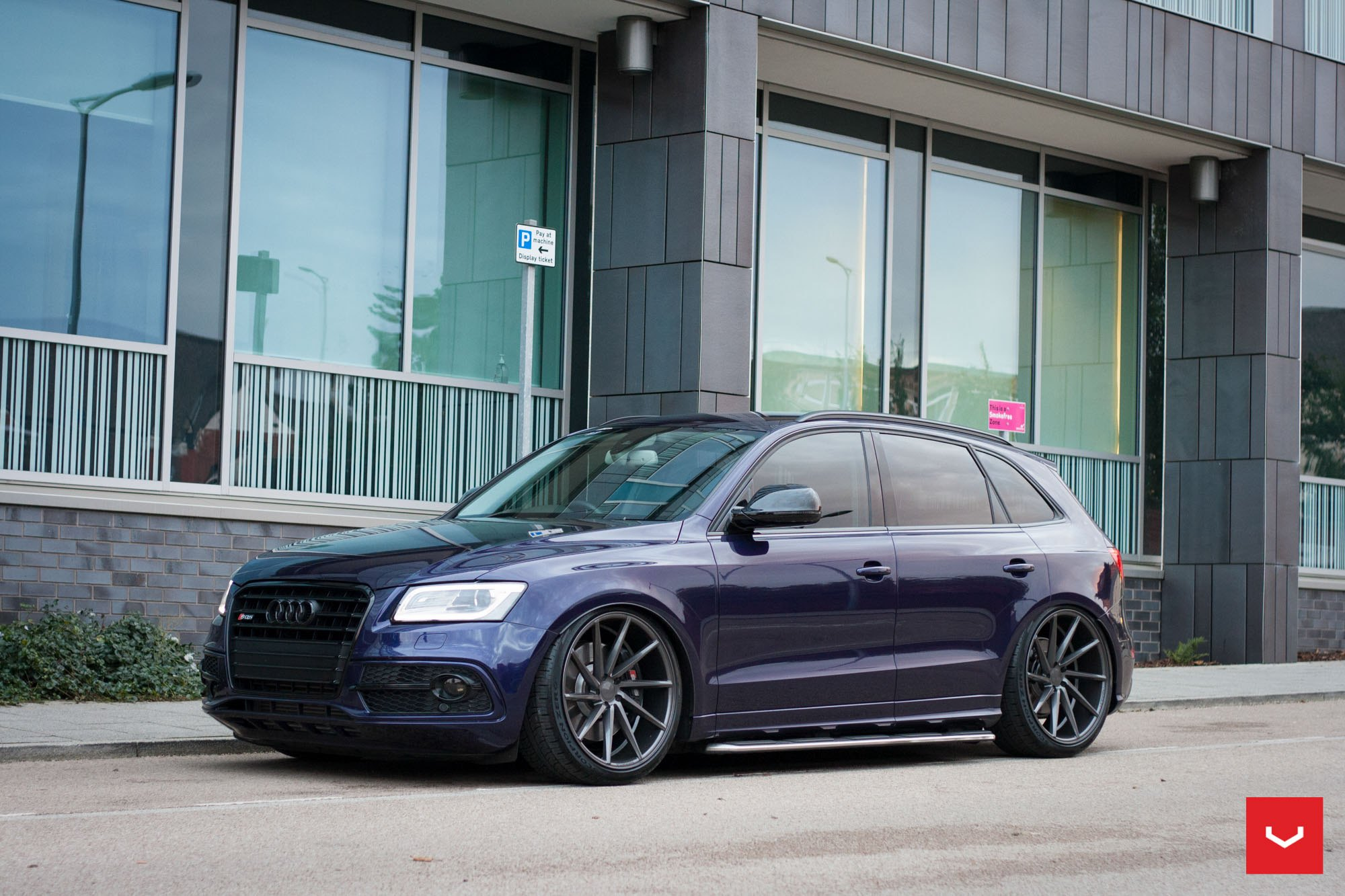 Purple Audi Q5 With Custom Blacked Out Grille Photo By Vossen