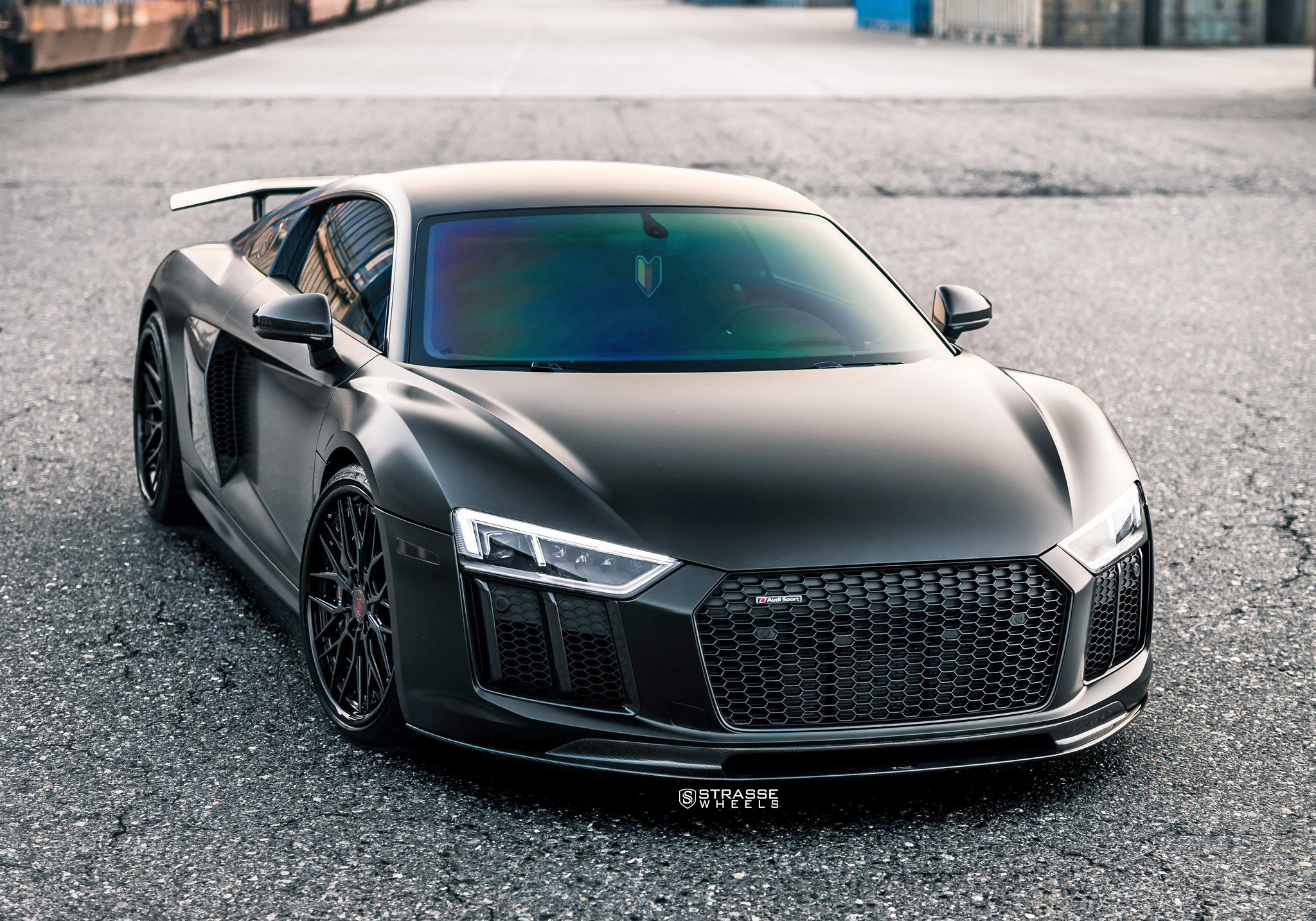Custom Body Kit Dramatically Changes Black Audi R8 Carid Com Gallery