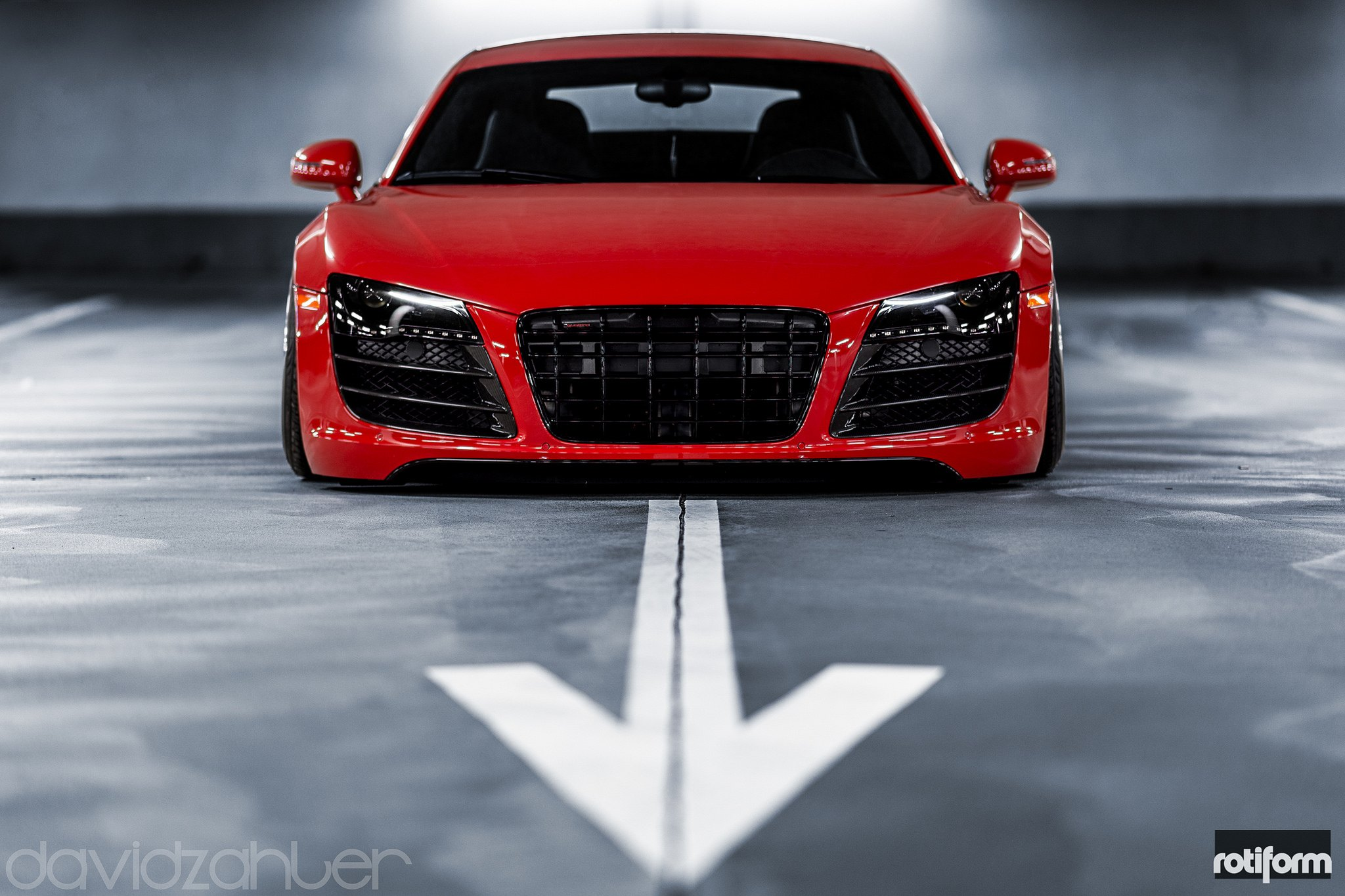 screaming red audi r8 with cbu 3pc wheels by rotiform gallery. Black Bedroom Furniture Sets. Home Design Ideas