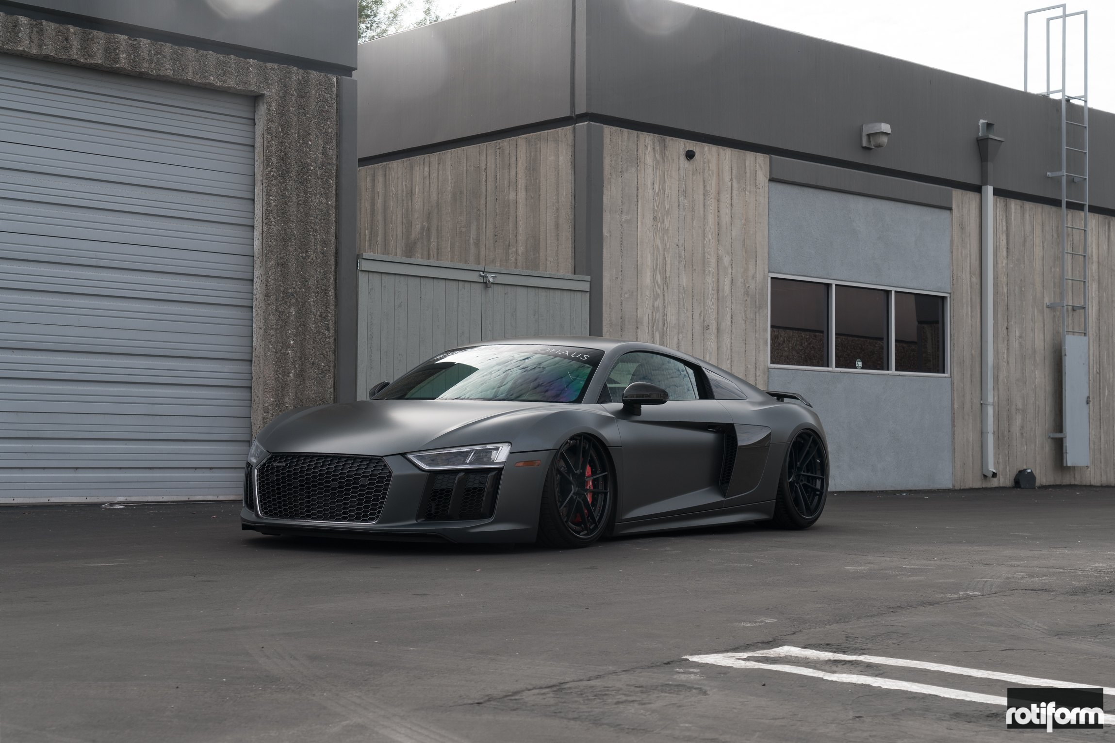 Mighty Matte Black Audi R8 With Custom Body Kit And Air Suspension