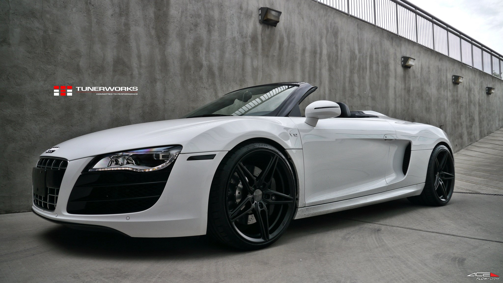 Custom White Convertible Audi R8 V10 Photo By Ace Alloy