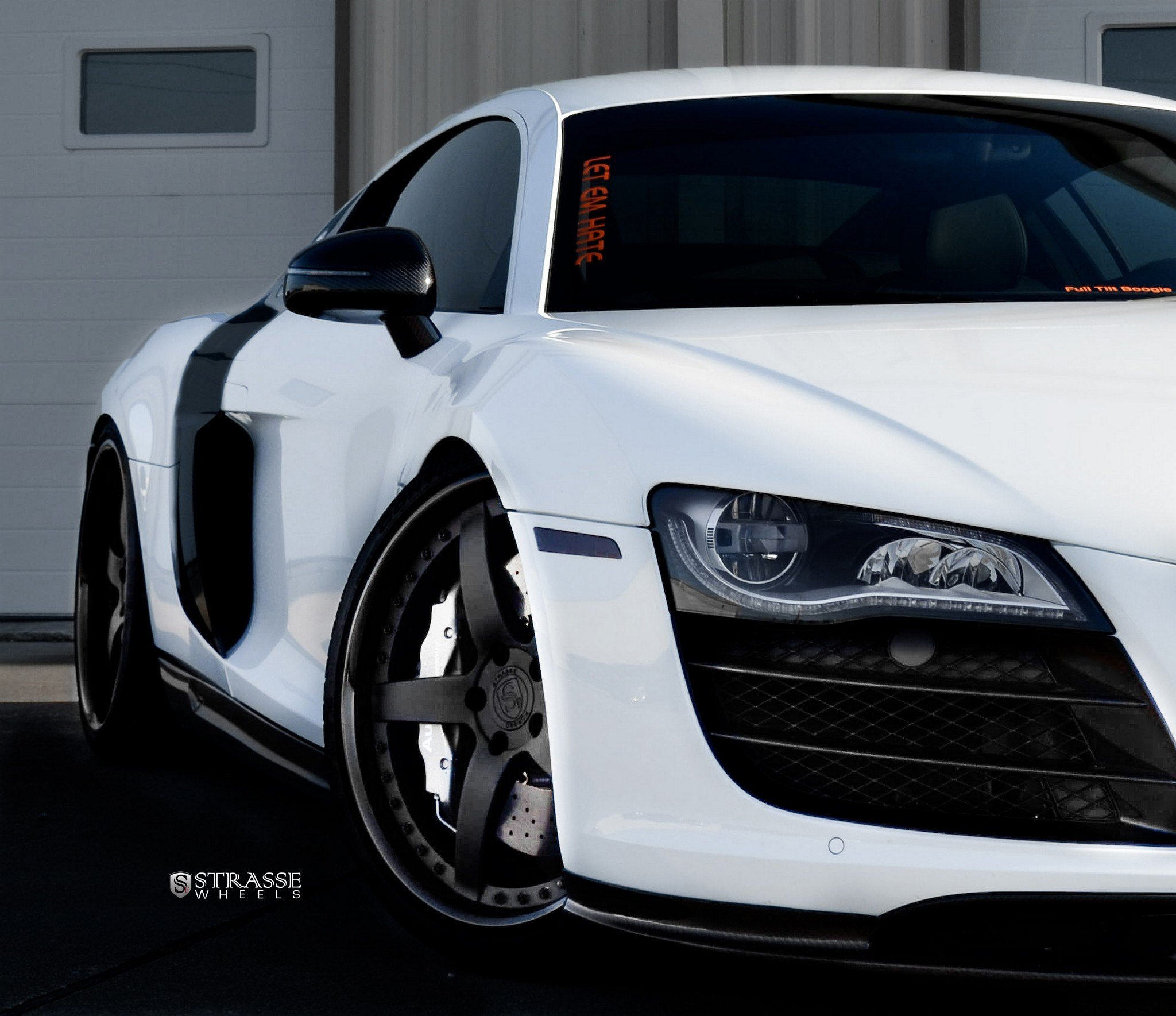 Audi R8: Extremely Stylish White Audi R8 Enhanced By Blacked Out