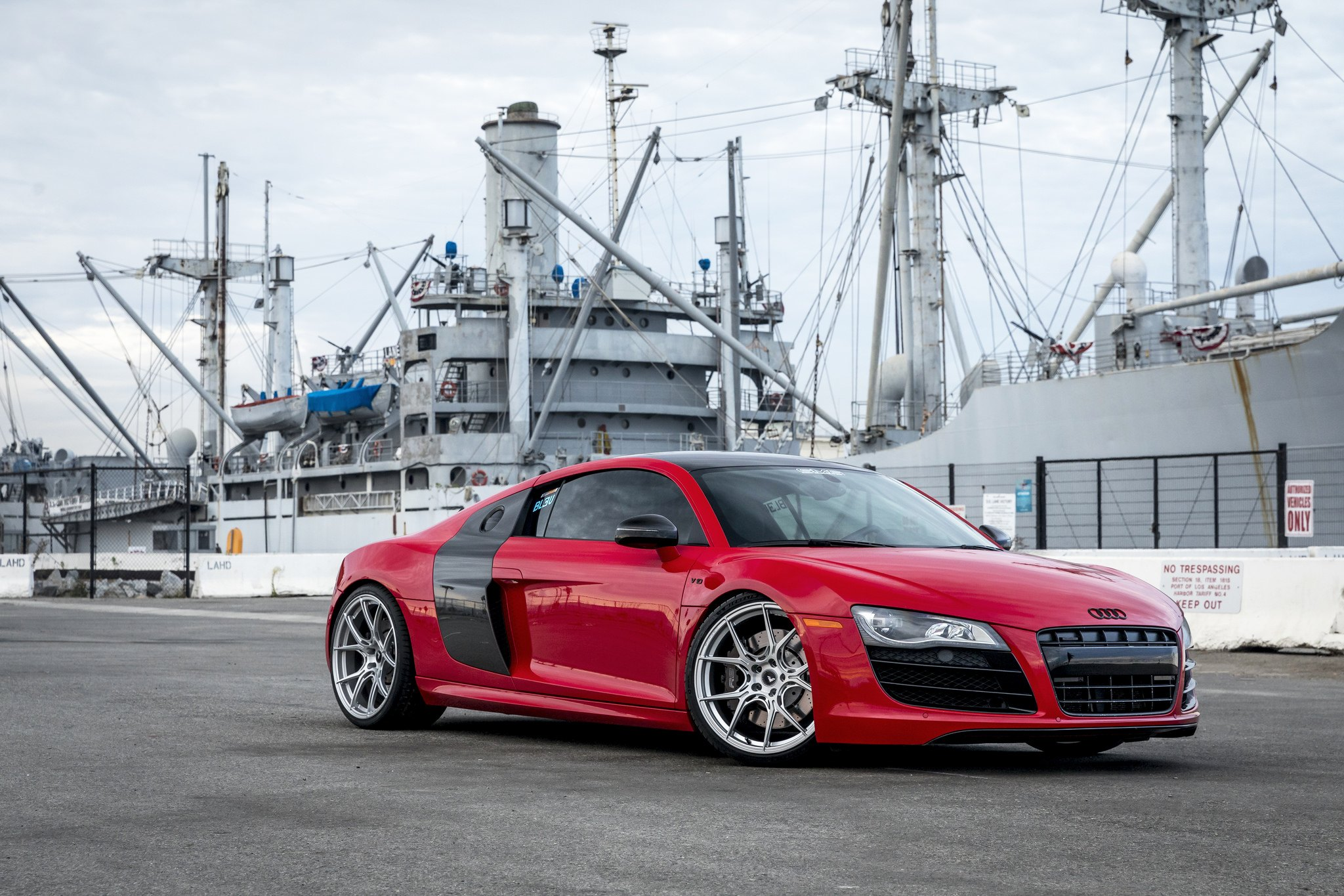 Chrome Vorsteiner Rims Looking Great On Red Audi R8 Carid Com Gallery