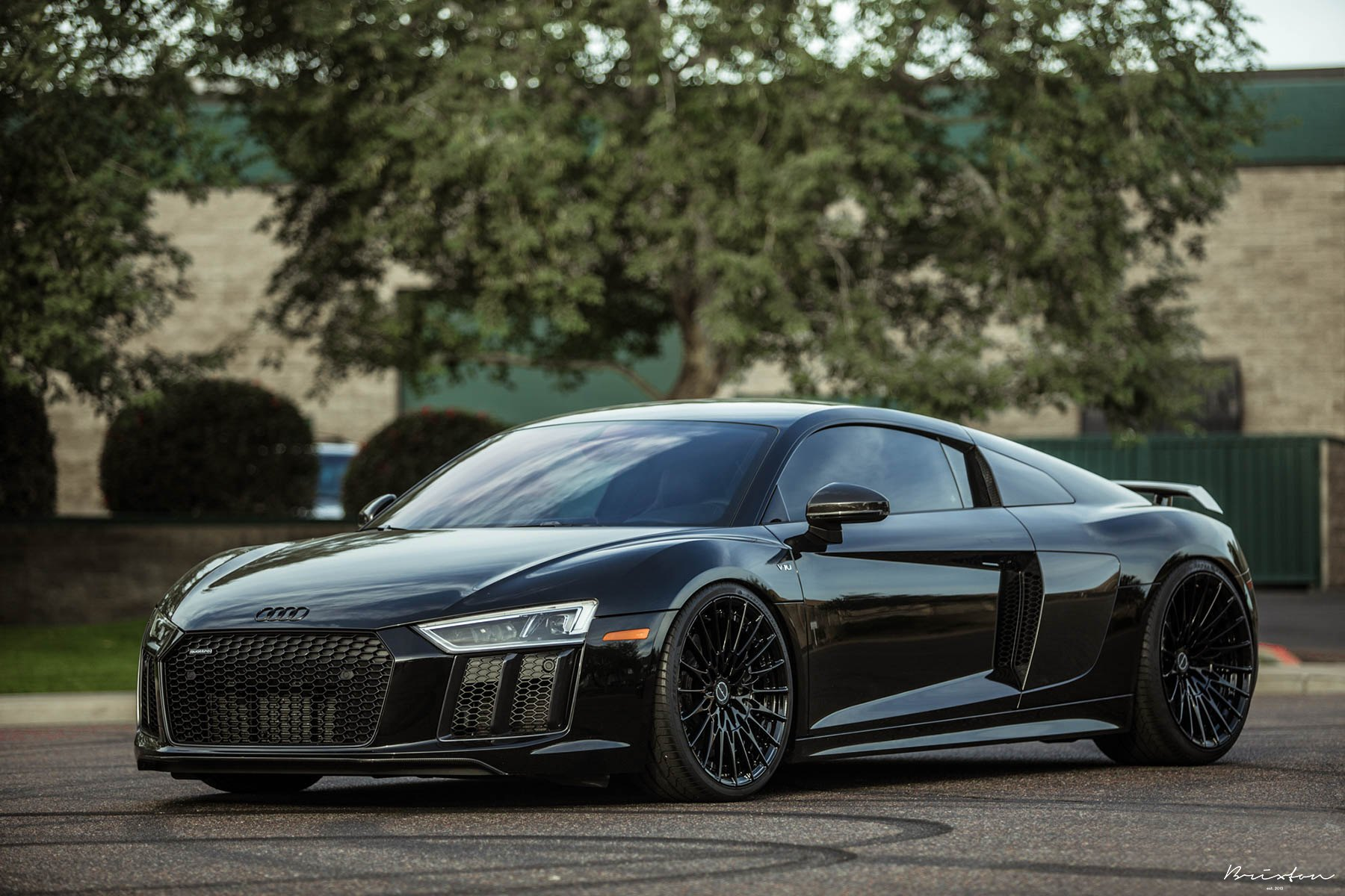 stealthy takes over black audi r8 with custom parts gallery. Black Bedroom Furniture Sets. Home Design Ideas