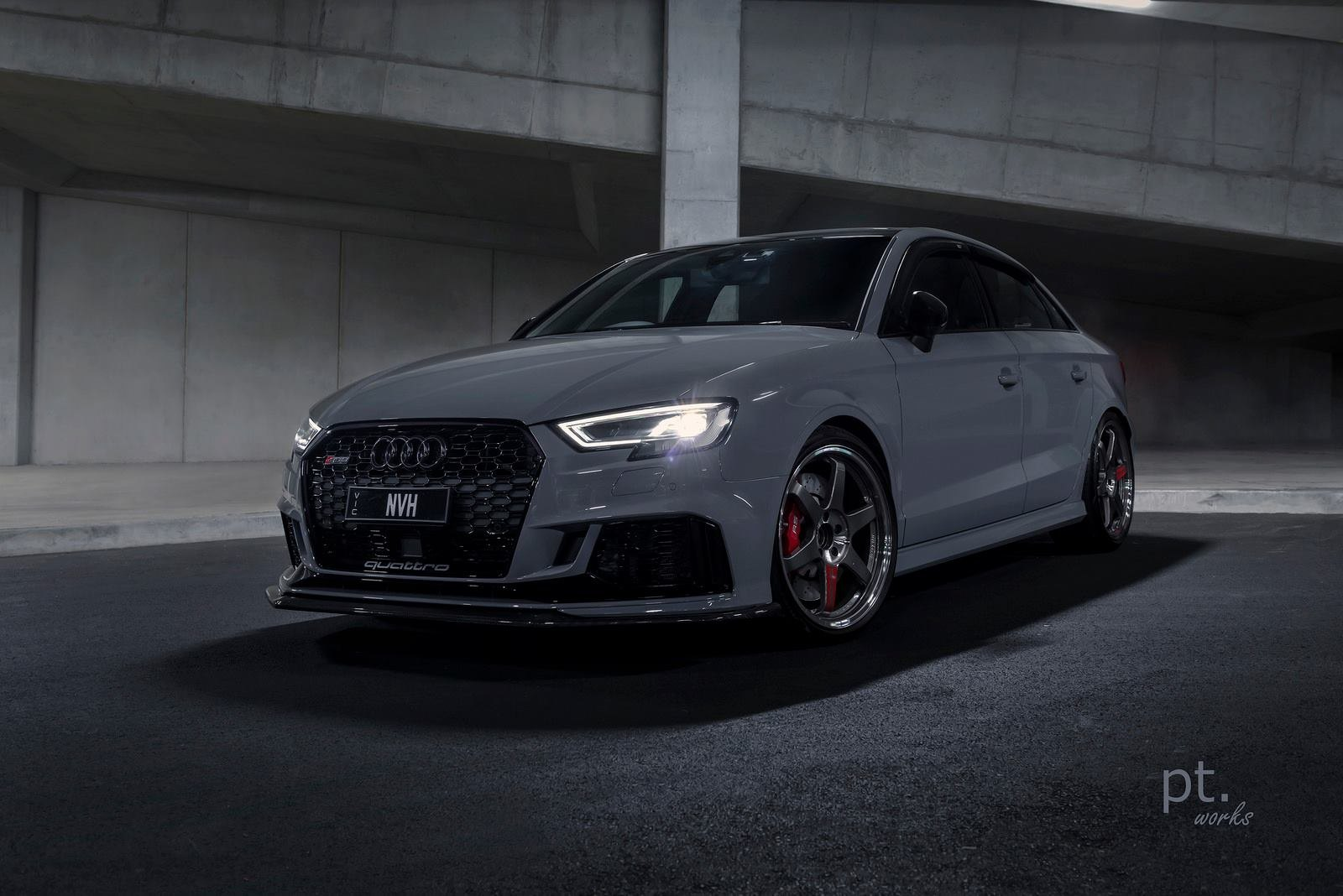 Gray Audi S3 With Blacked Out Mesh Grille Photo By Pt Works