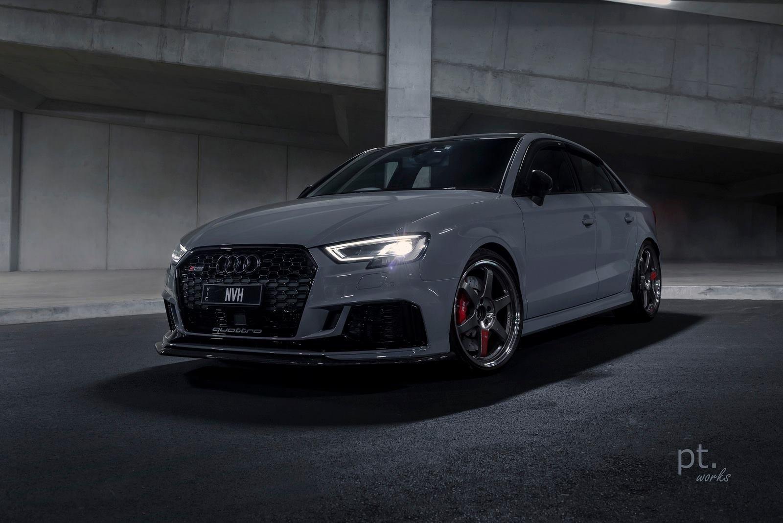 Sharp-looking Audi S3 in Graphite Gray Color — CARiD.com Gallery on audi moss green, audi bronze, audi chrome, audi cobalt blue, audi maroon, audi yellow, audi black, audi midnight blue, audi white, audi gold, audi purple,