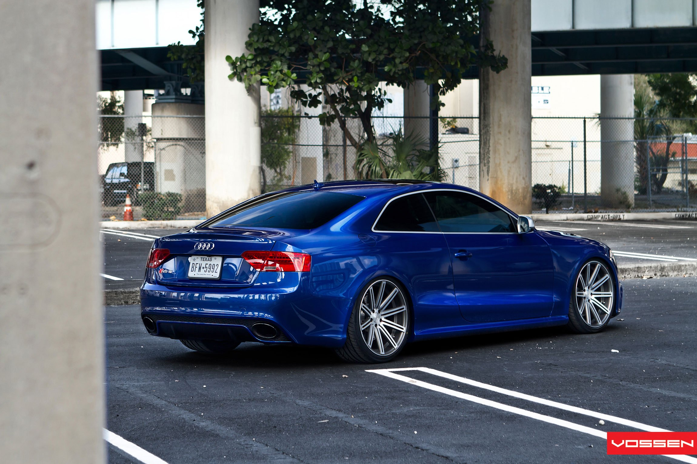 Electric Blue Audi S5 Gets a Lowering Kit and Aftermarket ...