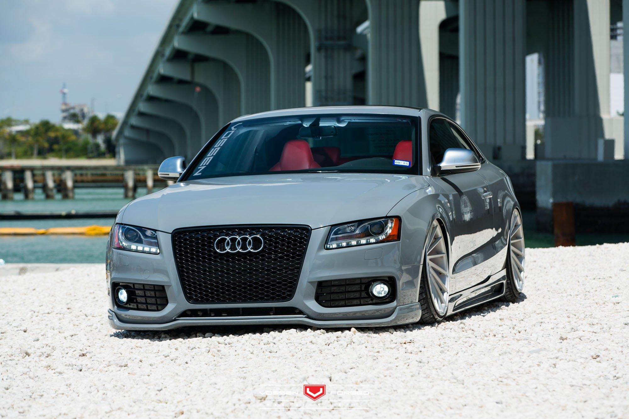 Audi S Sitting Low On Vossen VPS Custom Wheels CARiDcom Gallery - Audi s5 custom