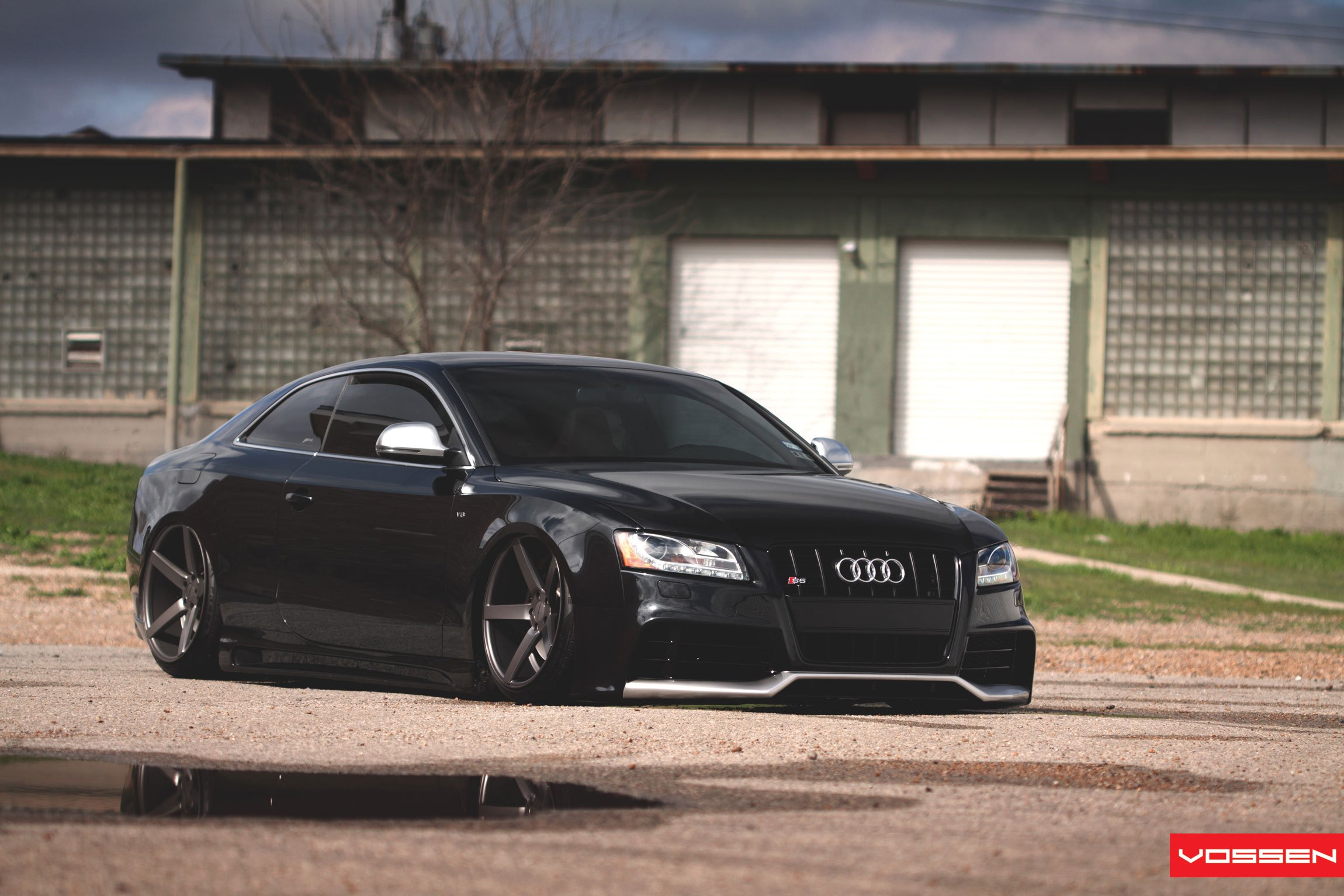 Stanced Out Audi S Goes Dark With Custom Parts CARiDcom Gallery - Audi s5 custom