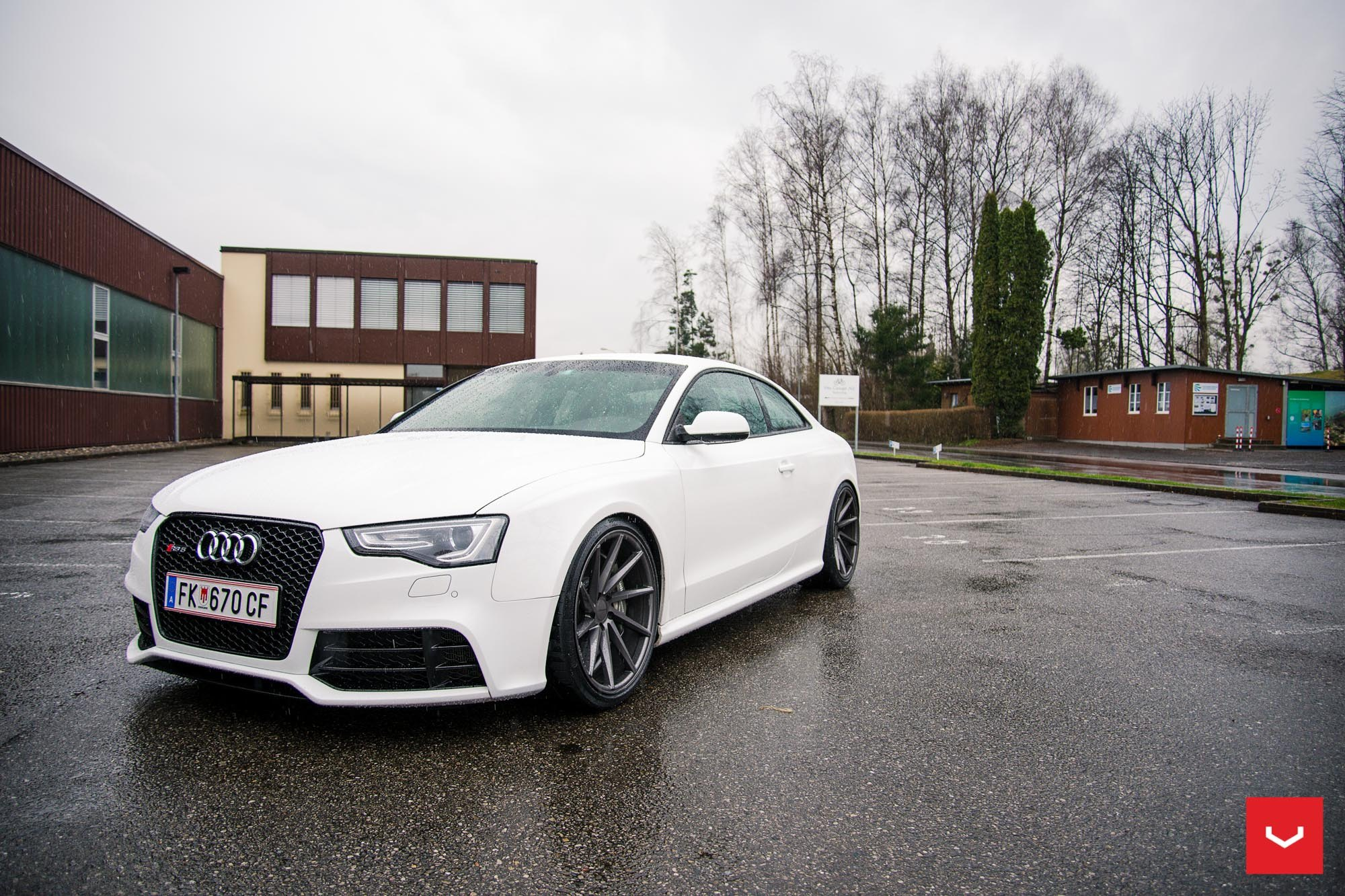 White Audi S5 Fitted With Contrasting Black Custom Add Ons